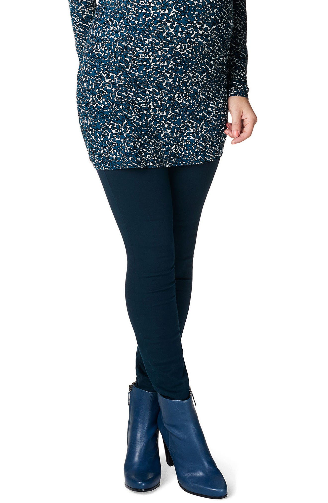 Bailey Over the Belly Slim Maternity Pants,                         Main,                         color, Black