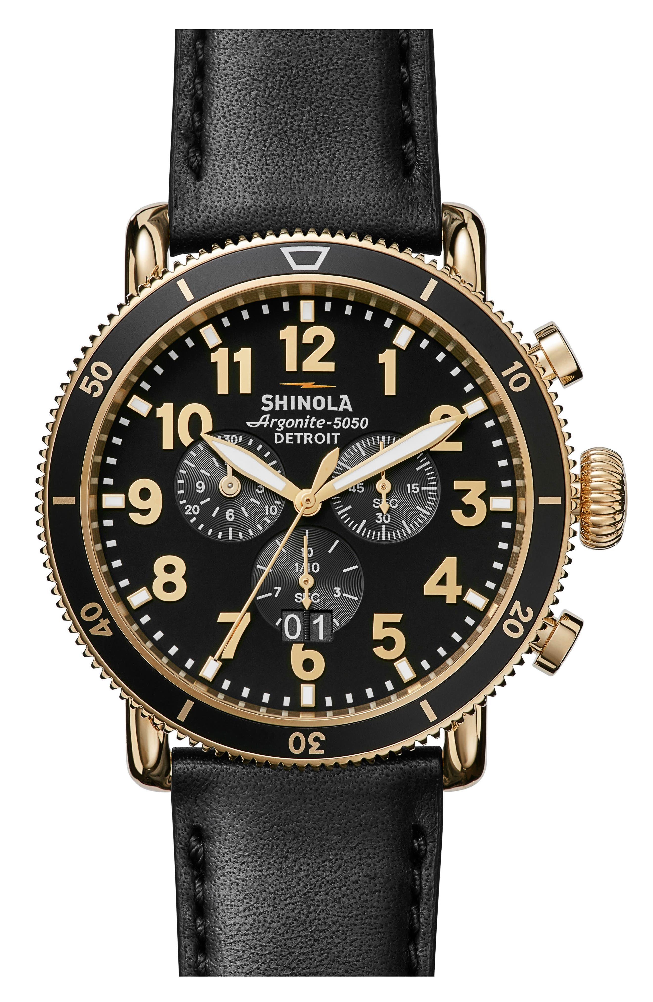 Main Image - Shinola The Runwell Sport Chronograph Watch, 48mm