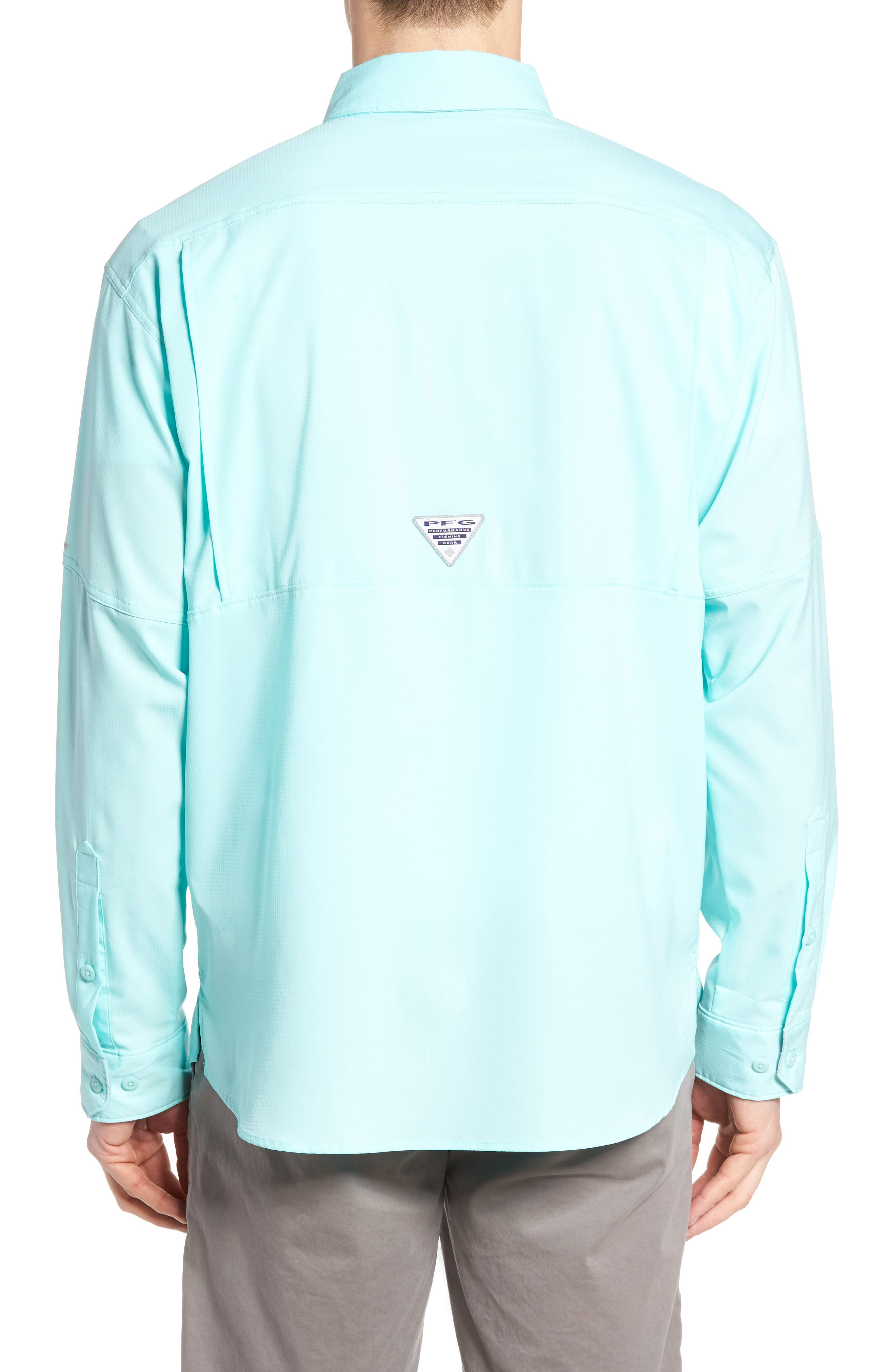 Low Drag Offshore Woven Shirt,                             Alternate thumbnail 2, color,                             Gulf Stream