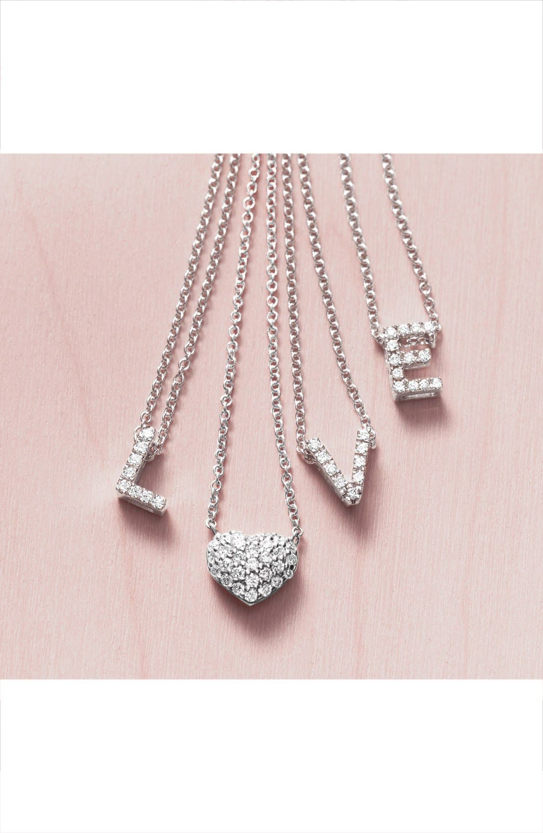 Alternate Image 5  - Bony Levy Pavé Diamond Initial Pendant Necklace (Nordstrom Exclusive)