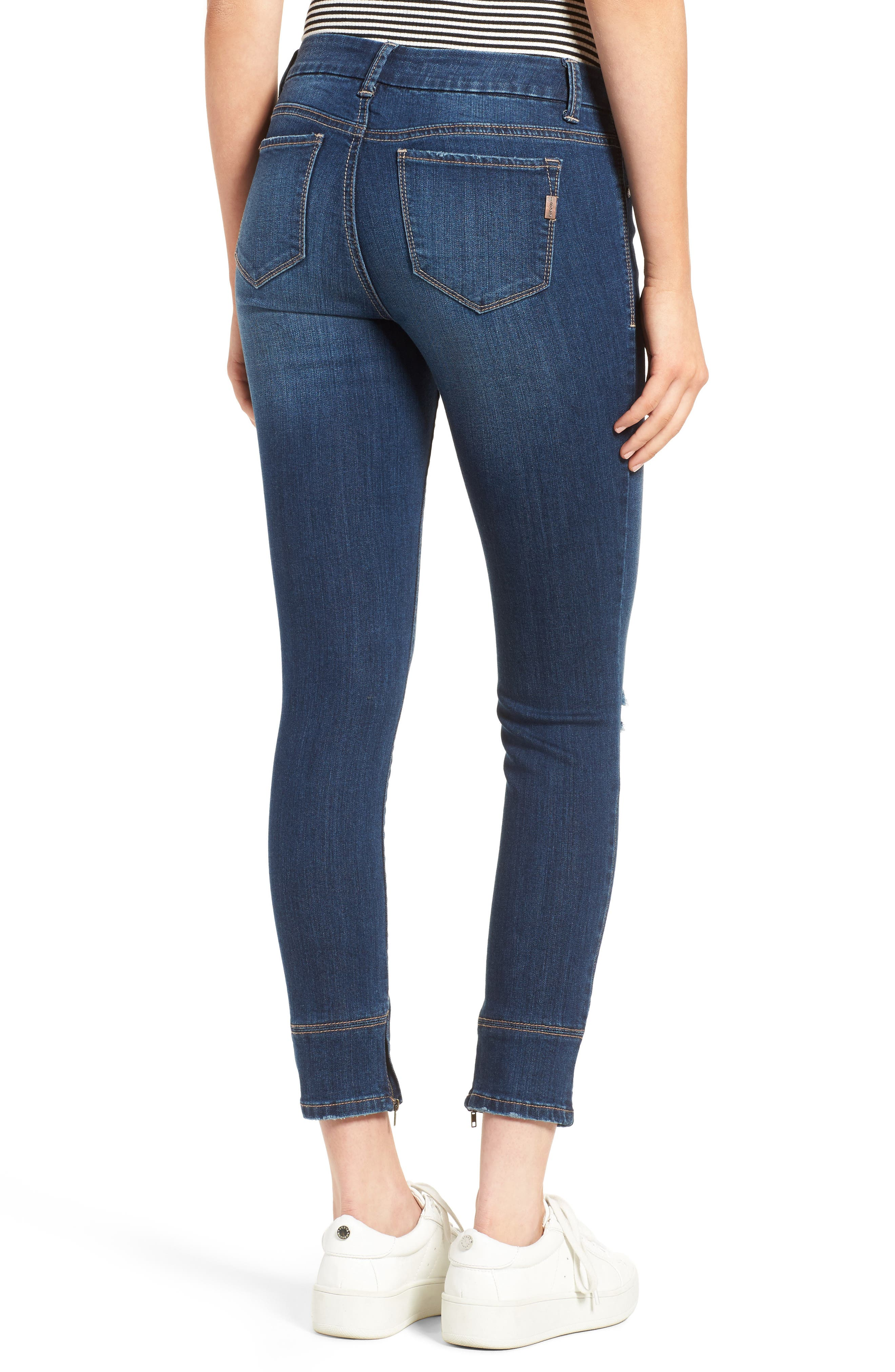 Alternate Image 2  - 1822 Denim Ankle Skinny Jeans (Athens)