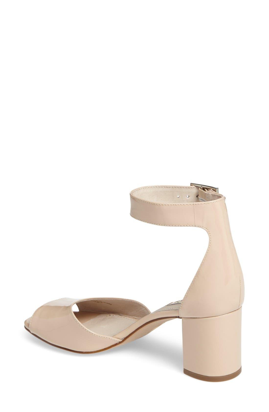 Karisa Ankle Cuff Sandal,                             Alternate thumbnail 2, color,                             Angel Food Patent