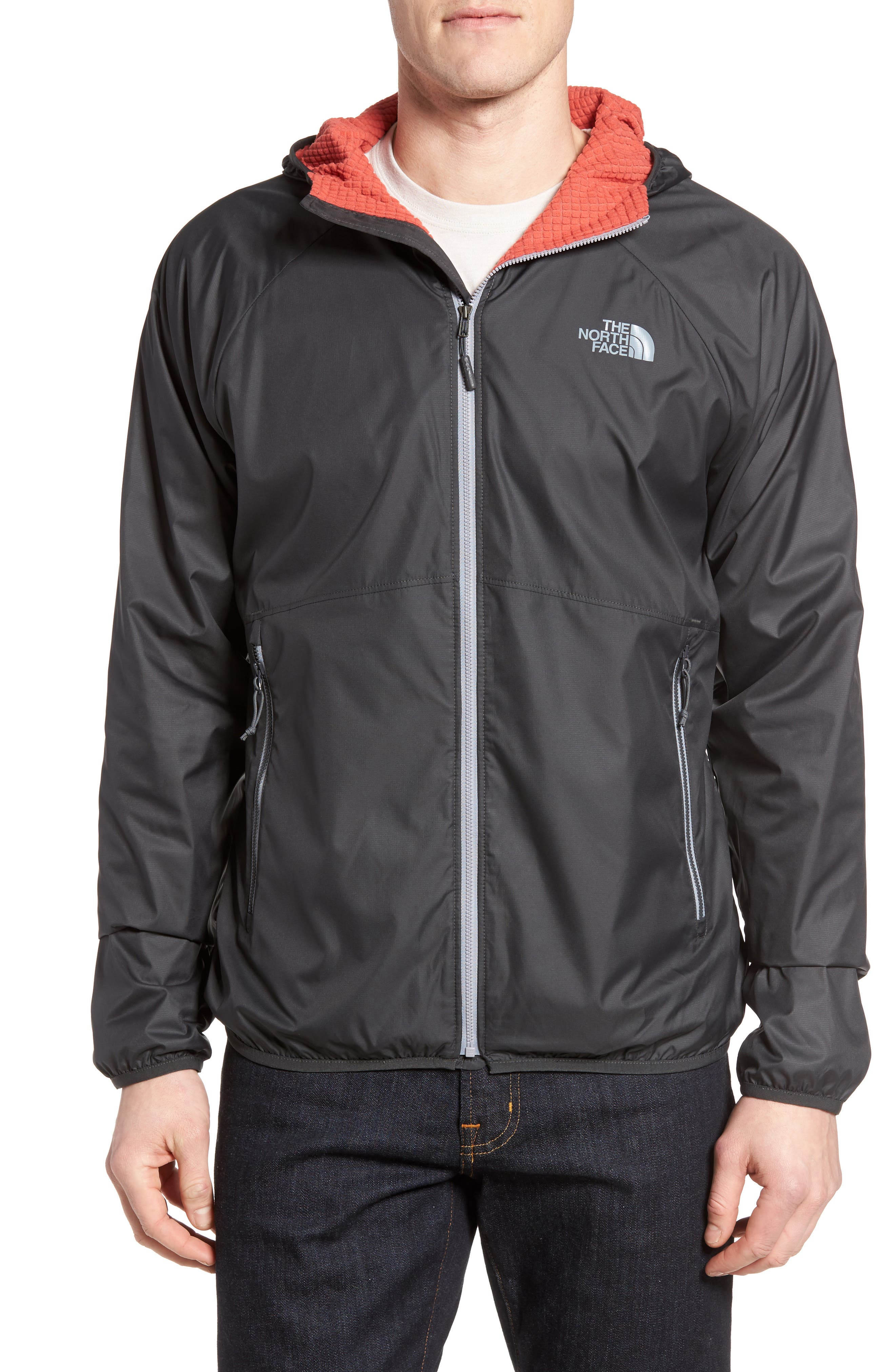 Desmond WindWall<sup>®</sup> Jacket,                             Main thumbnail 1, color,                             Asphalt Grey/ Sunbaked Red