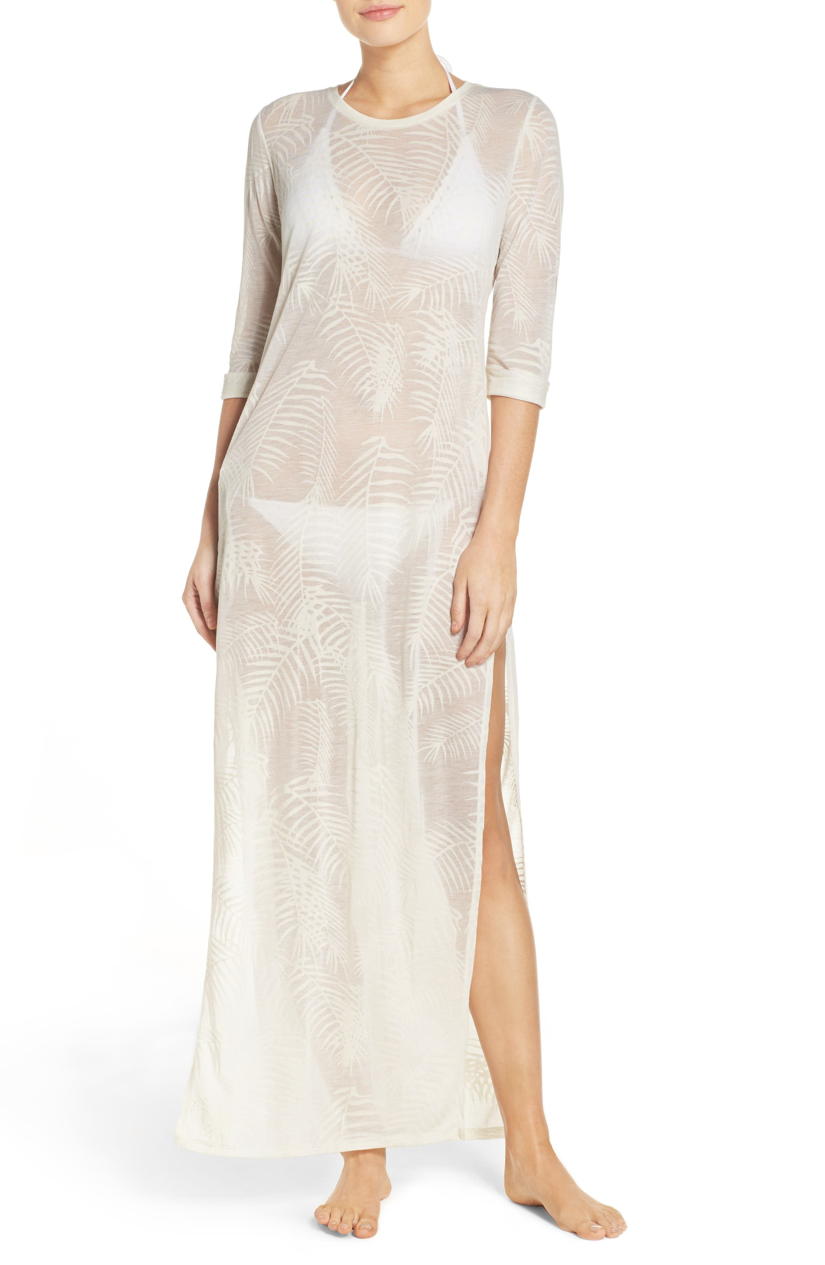 Finley Cover-Up Maxi Dress,                         Main,                         color, White