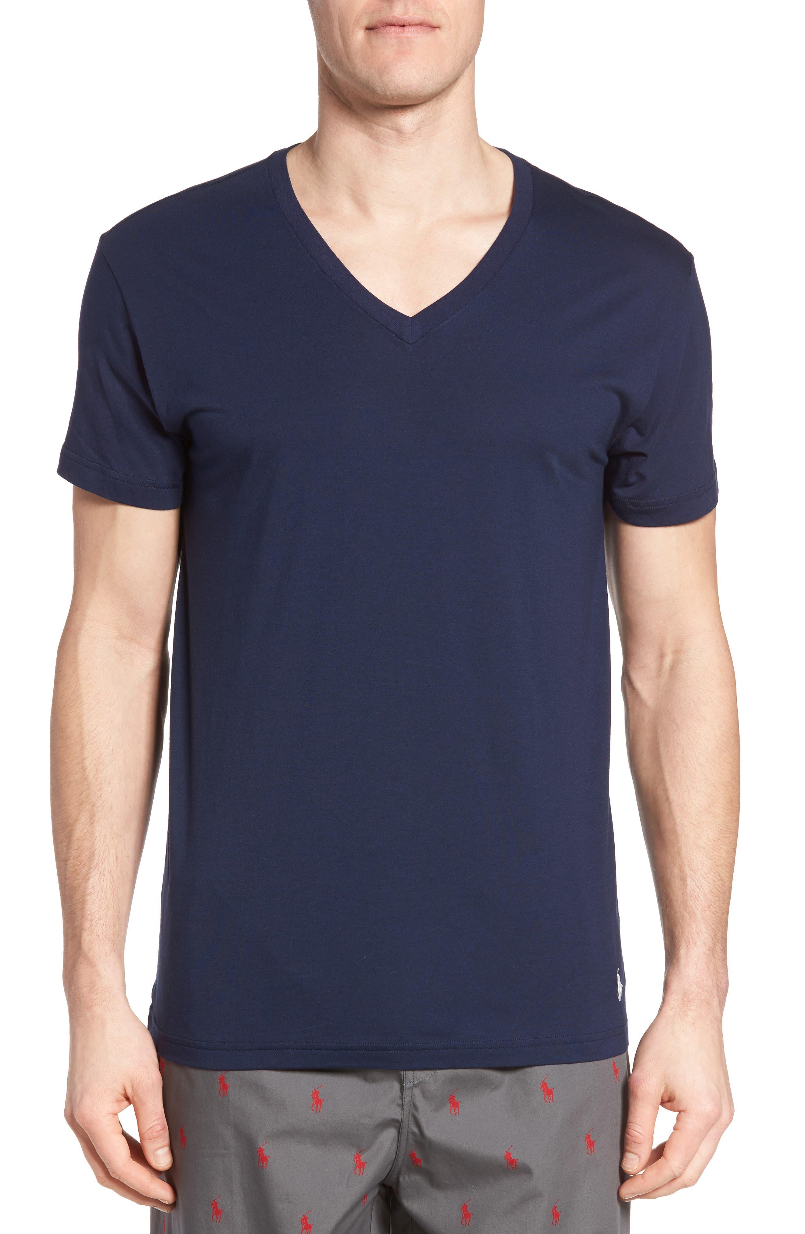 Lounge V-Neck T-Shirt,                         Main,                         color, Cruise Navy