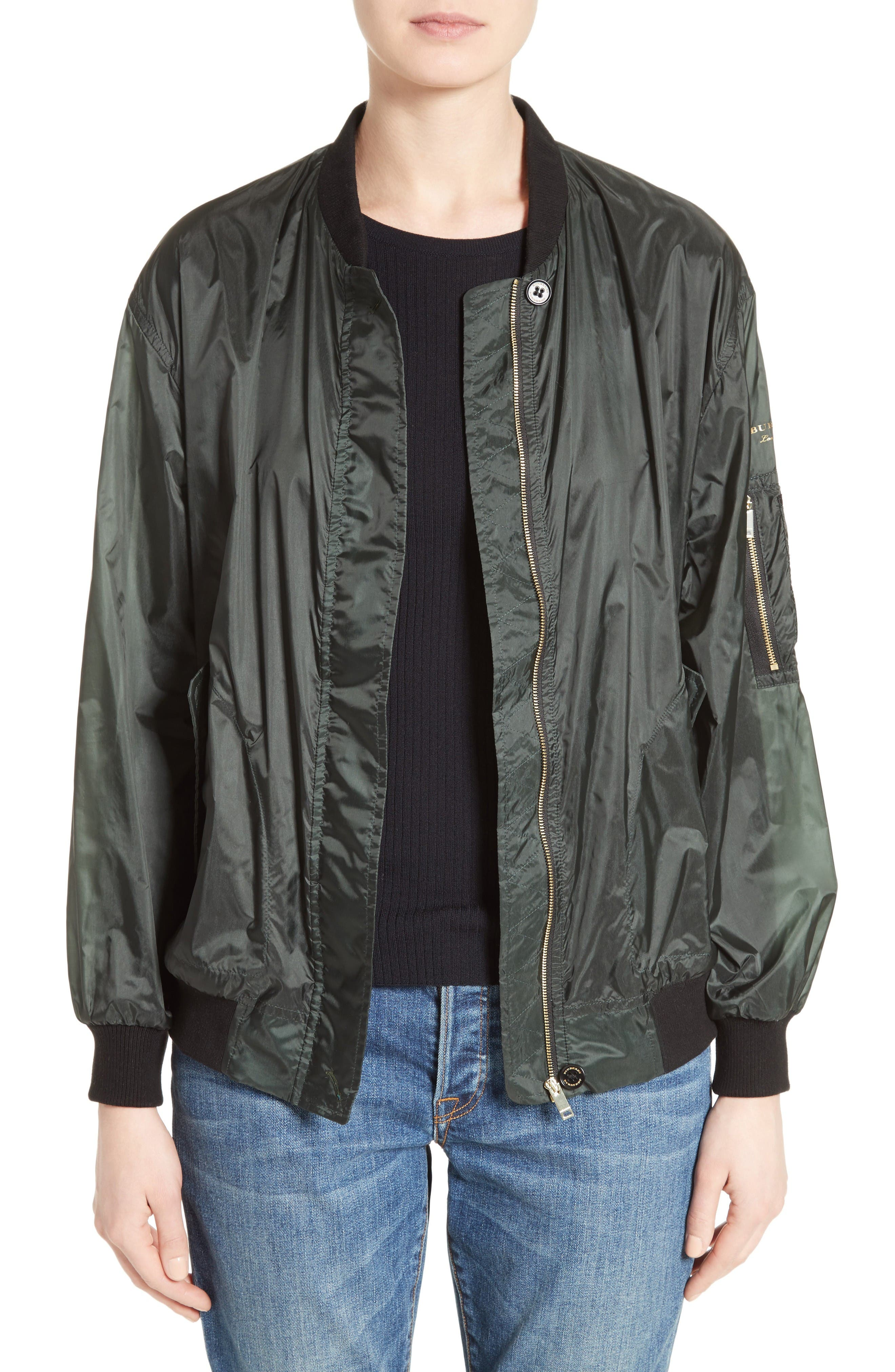 Alternate Image 1 Selected - Burberry Mayther Technical Bomber