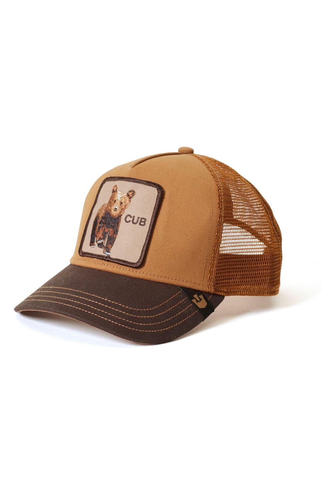 Cub Trucker Hat,                         Main,                         color, Brown