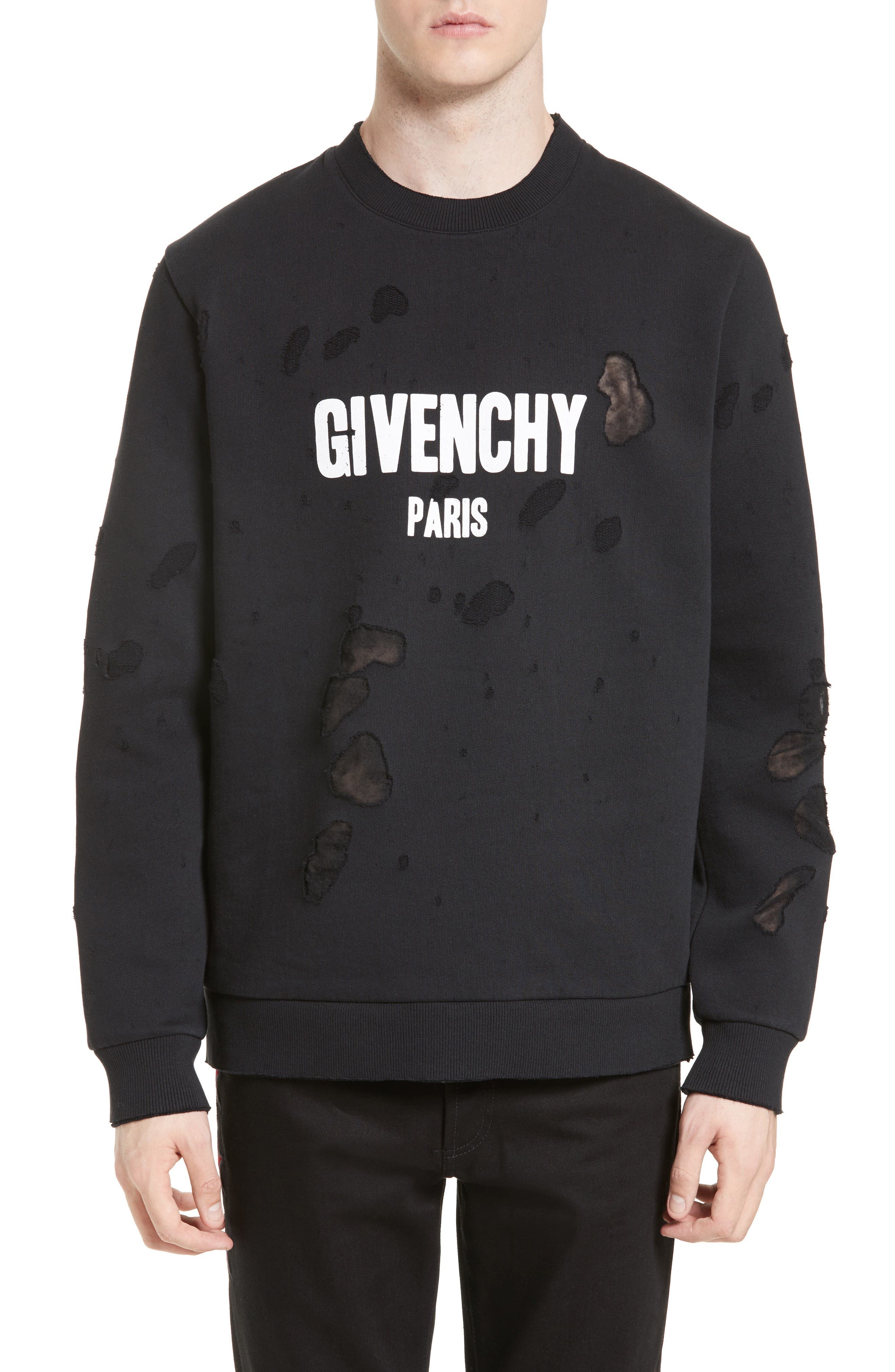 Givenchy Distressed Logo Graphic Sweatshirt