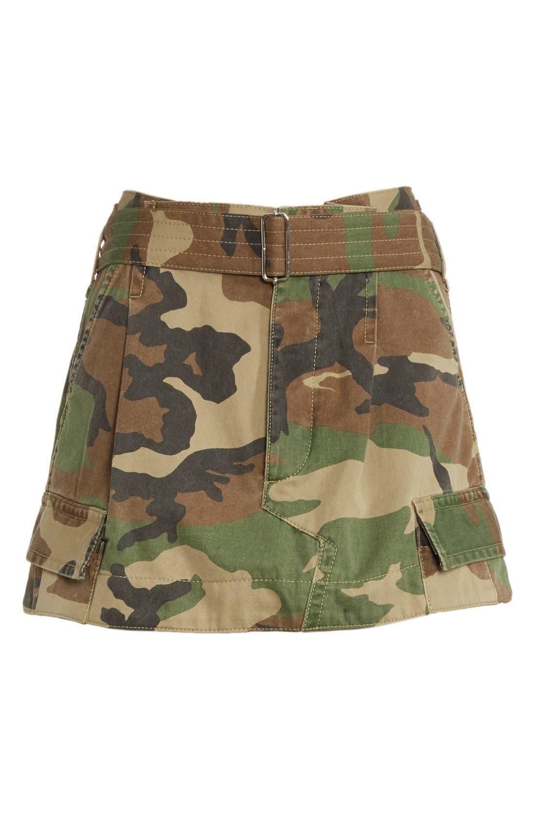 Alternate Image 4  - MARC JACOBS Camo Print Cargo Miniskirt