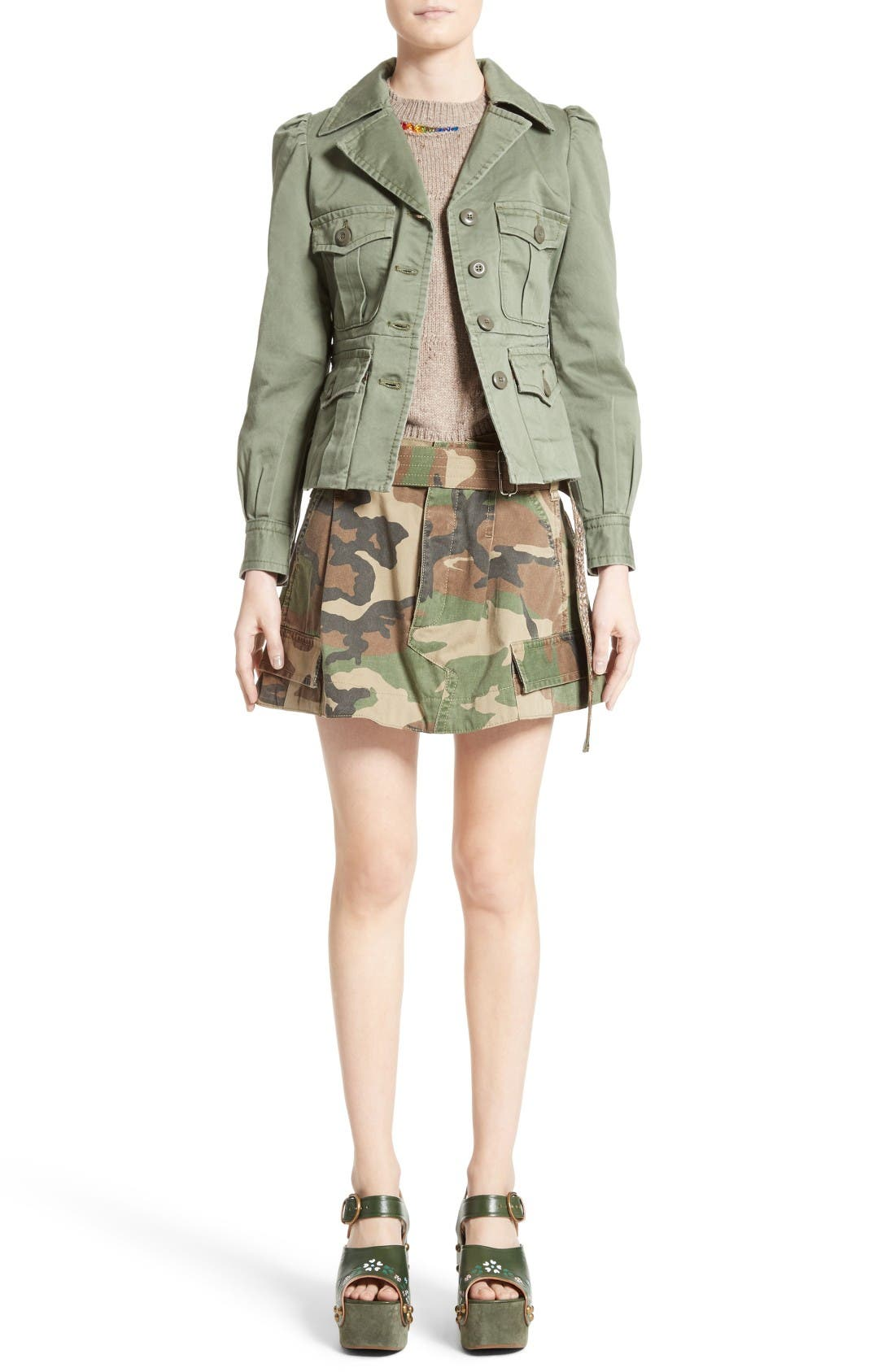 Alternate Image 8  - MARC JACOBS Camo Print Cargo Miniskirt