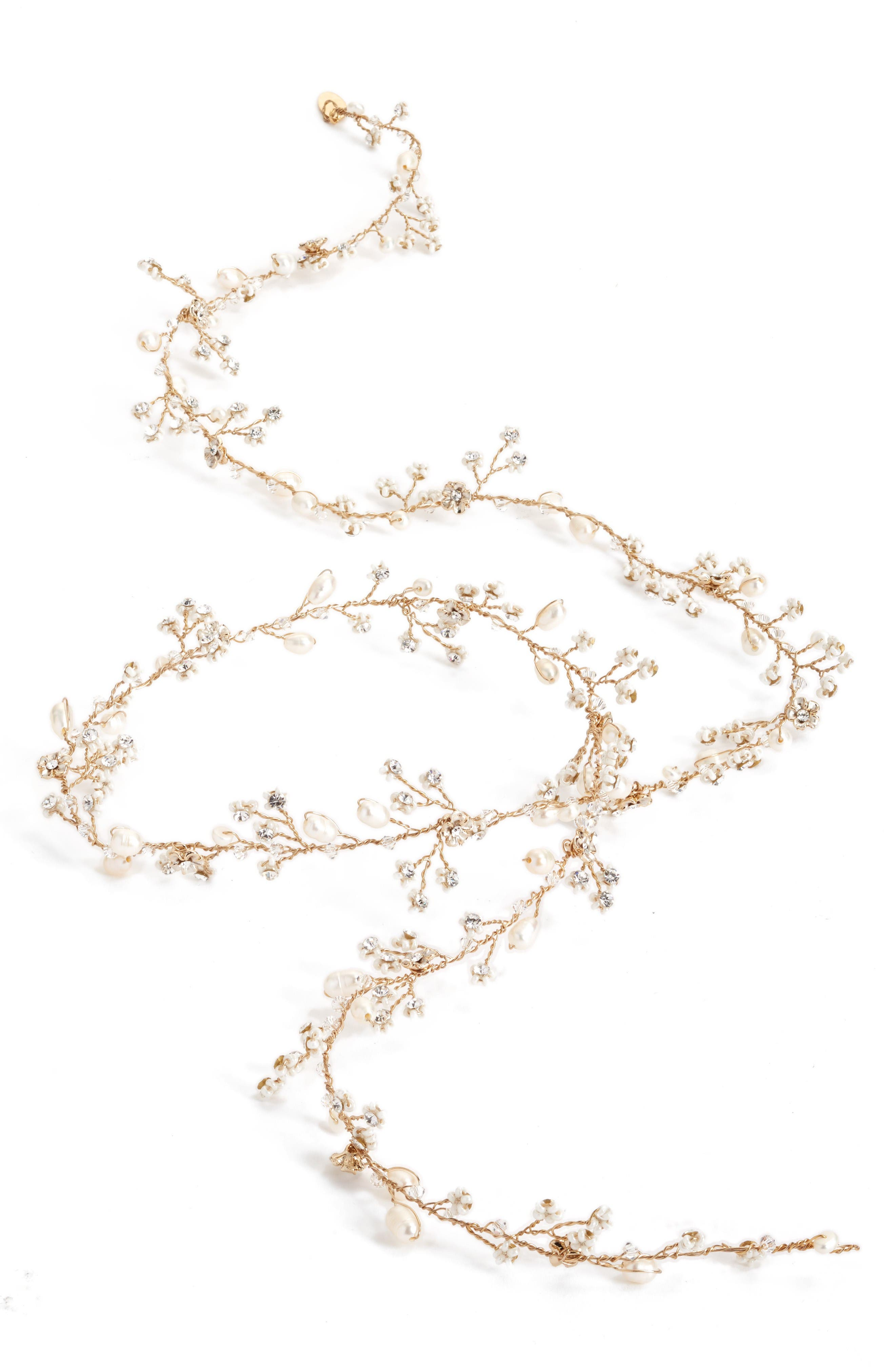 Alternate Image 2  - twigs & honey Extra Long Petite Blossom Hair Vine
