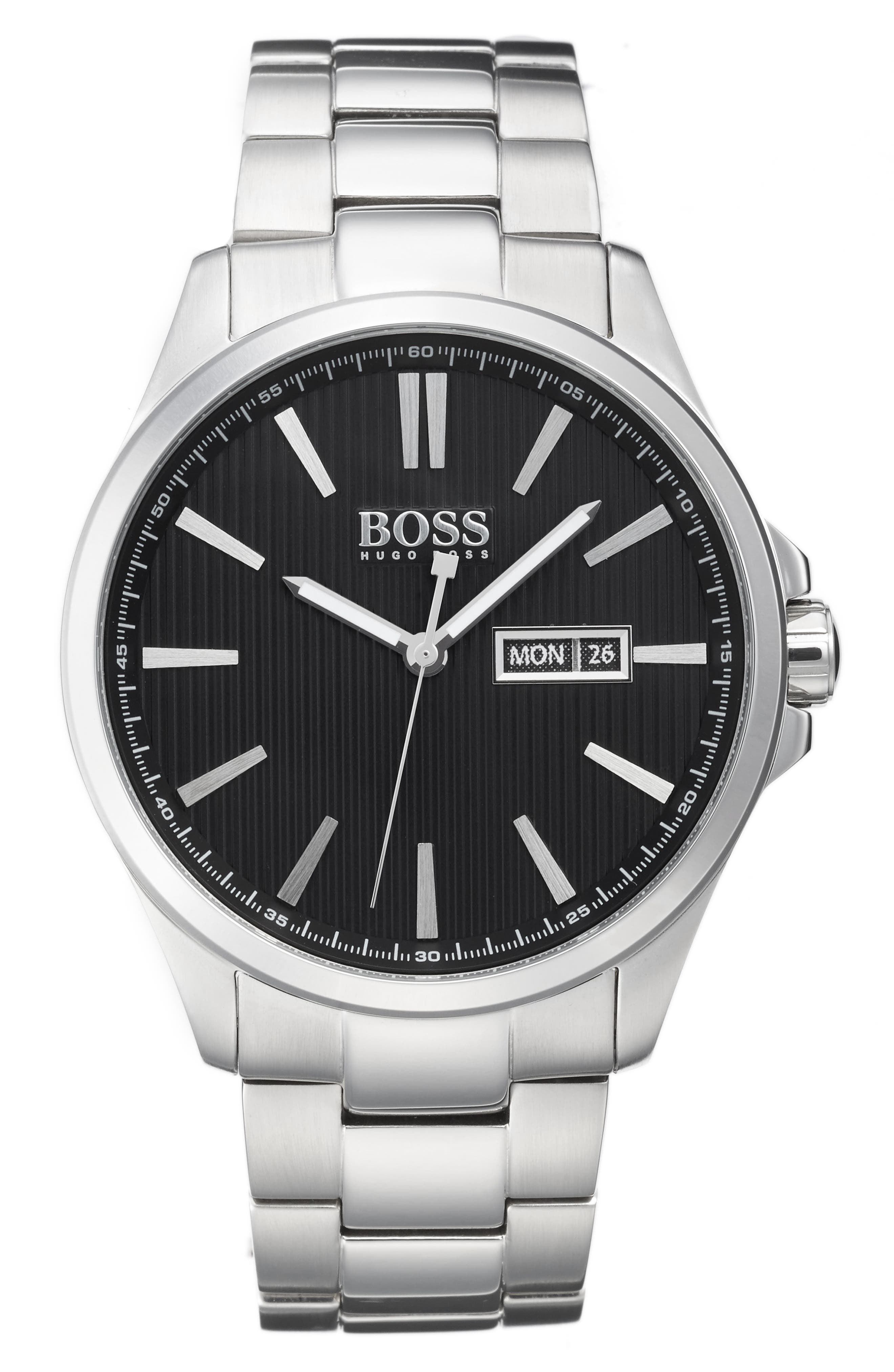 Main Image - BOSS The James Bracelet Watch, 42mm