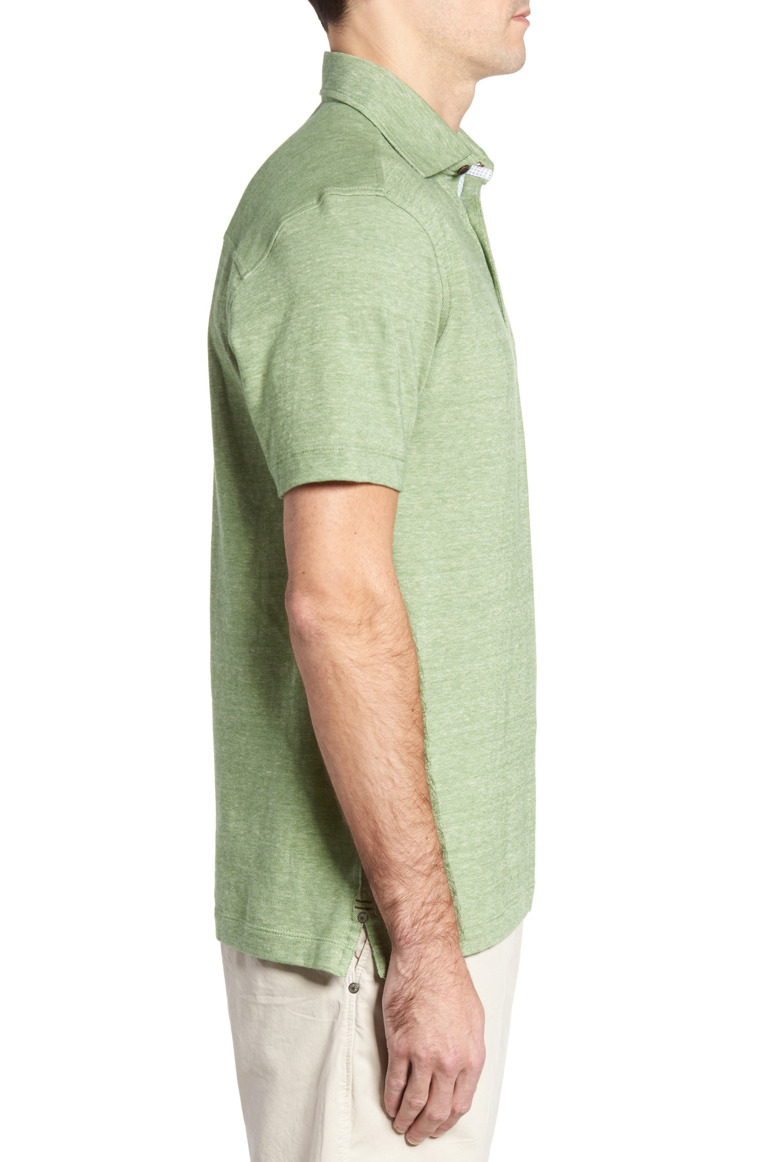 Alternate Image 3  - Thaddeus Tyson Cotton & Linen Piqué Polo