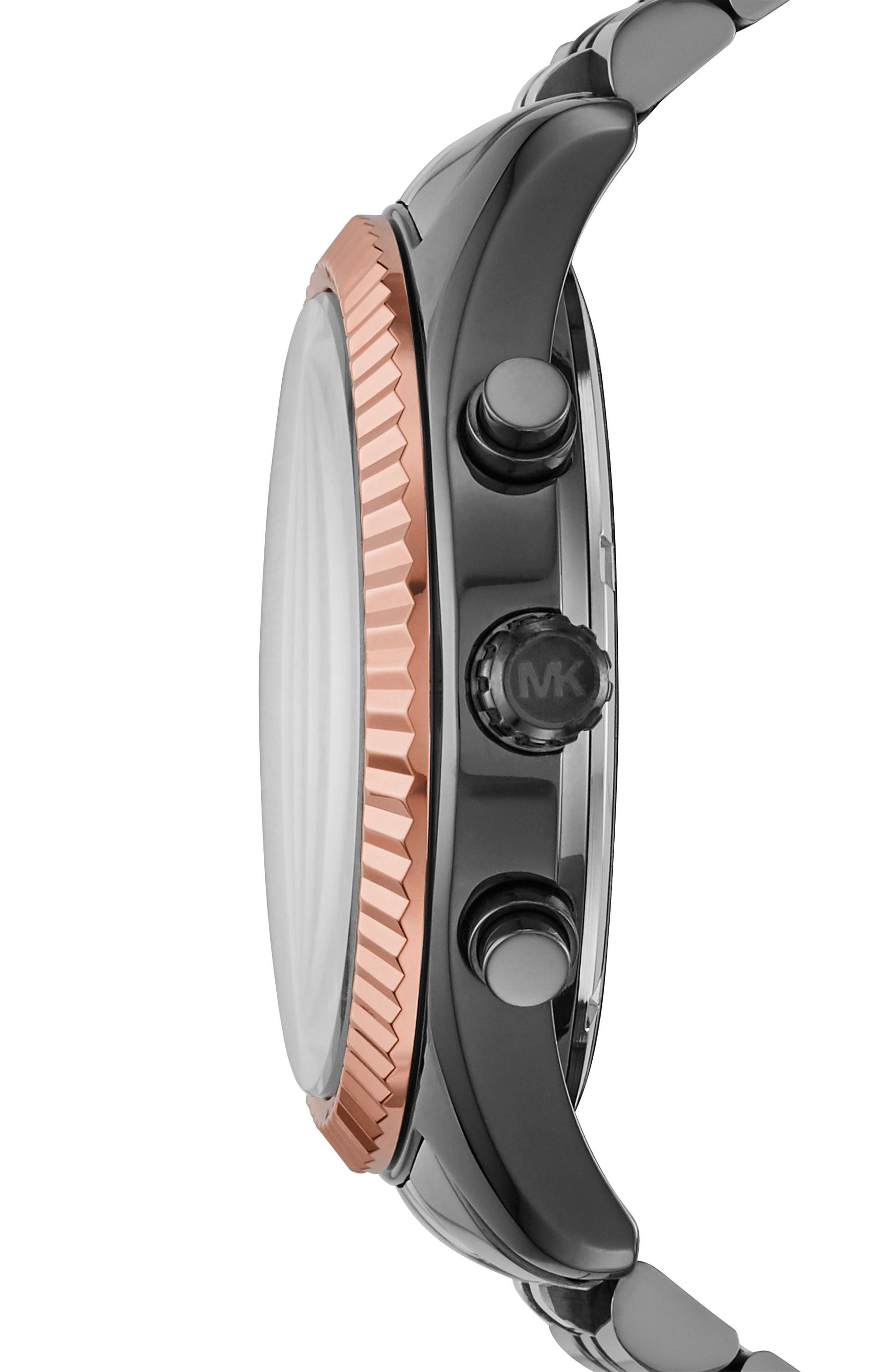 Alternate Image 2  - Michael Kors'Lexington' Chronograph Bracelet Watch,44mm