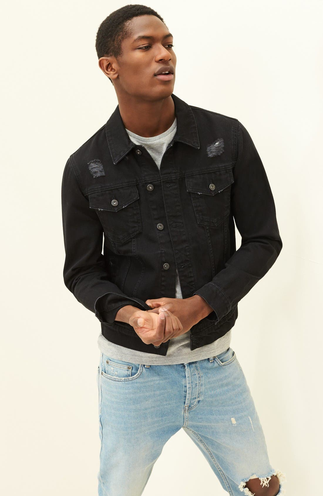 Alternate Image 5  - Topman Slim Fit Crewneck T-Shirt