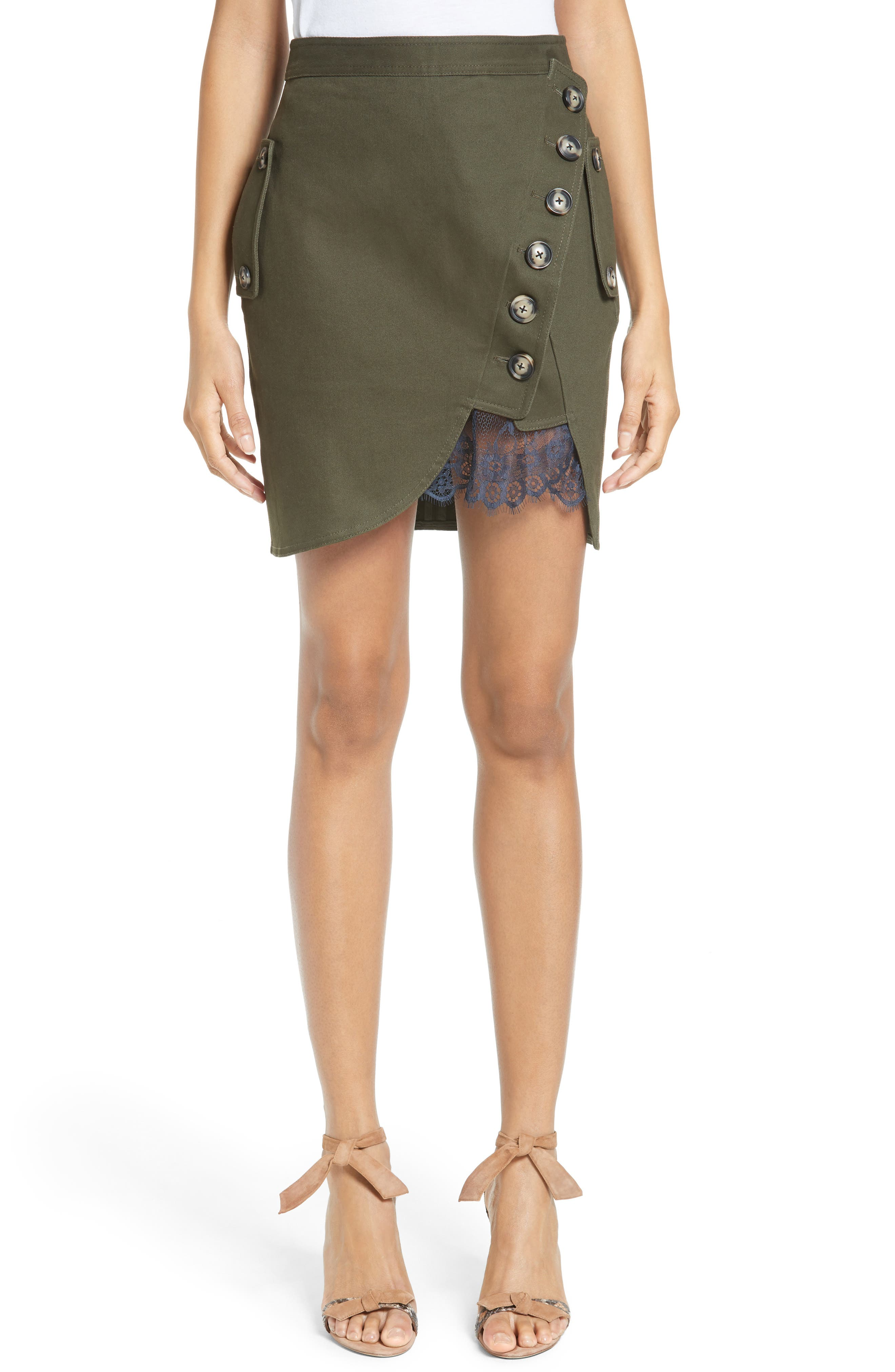 Alternate Image 1 Selected - Self-Portrait Utility Miniskirt
