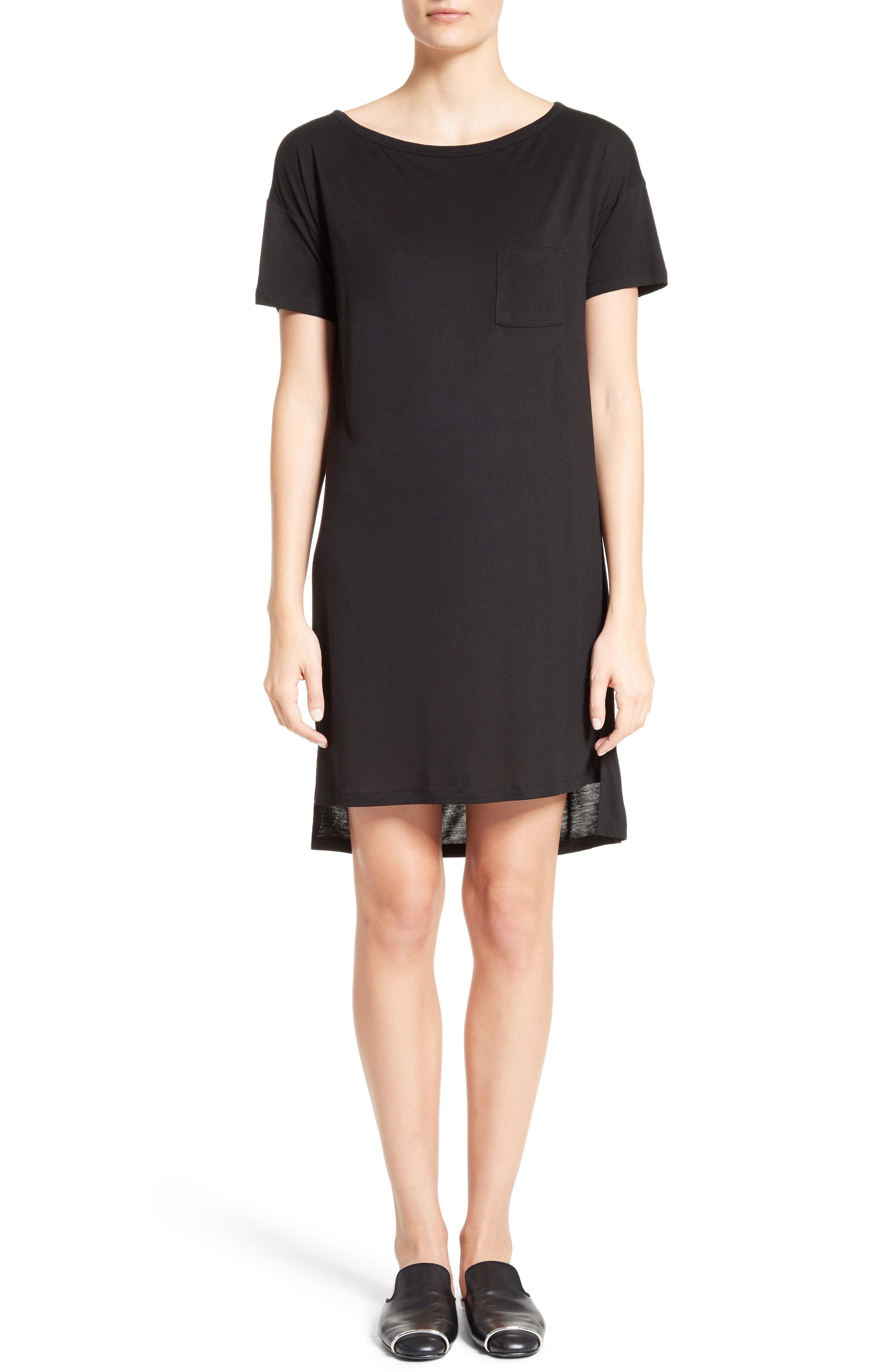 Alternate Image 1 Selected - T by Alexander Wang Boatneck T-Shirt Dress