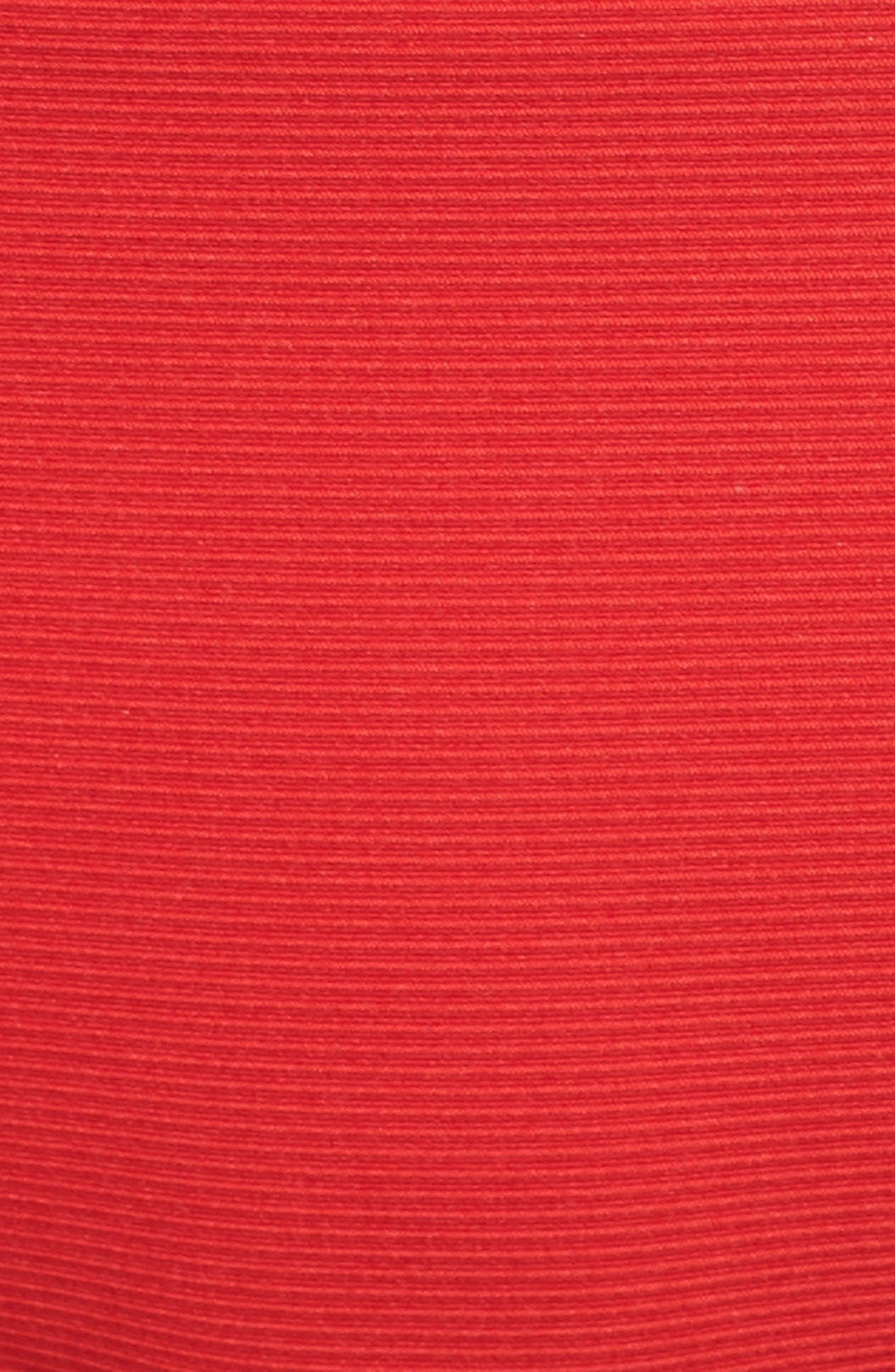 Ali Ribbed Bikini Bottoms,                             Alternate thumbnail 6, color,                             Viking Red Ribbed