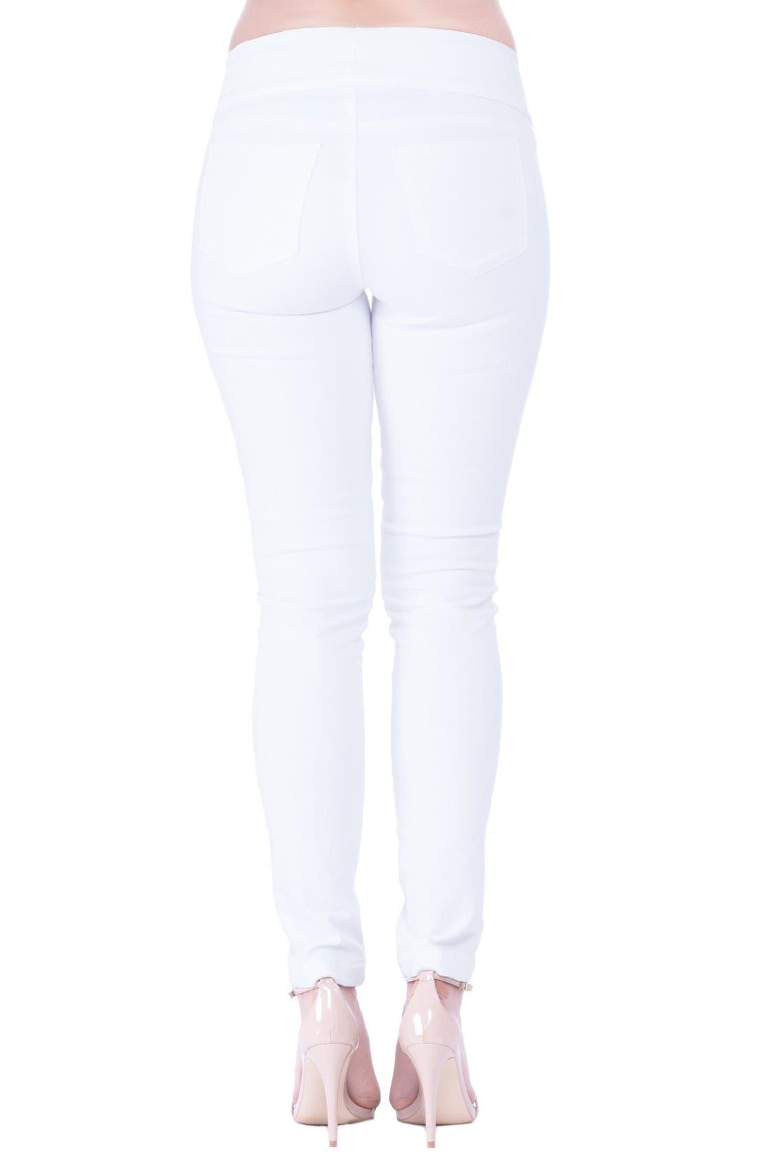 Alternate Image 2  - Olian 'Geni' Maternity Skinny Jeans