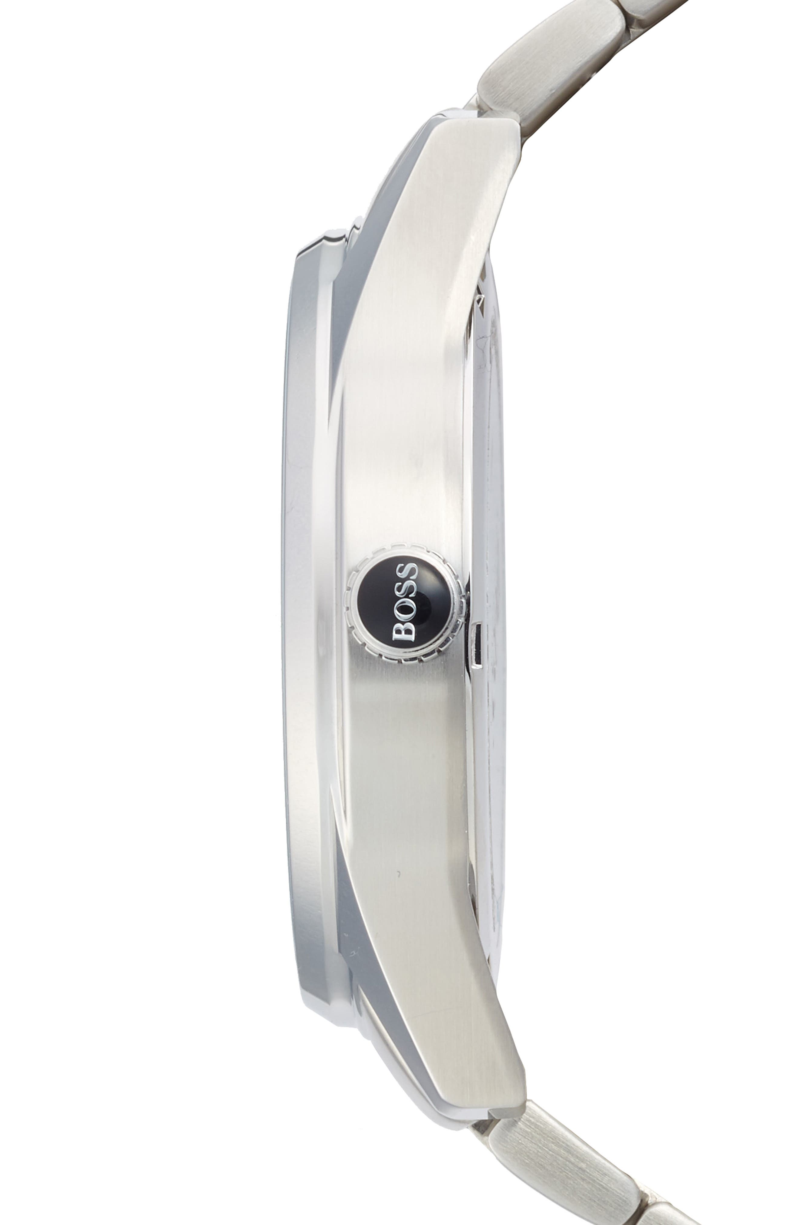 The Heritage Bracelet Watch, 43mm,                             Alternate thumbnail 3, color,                             Black/ Silver