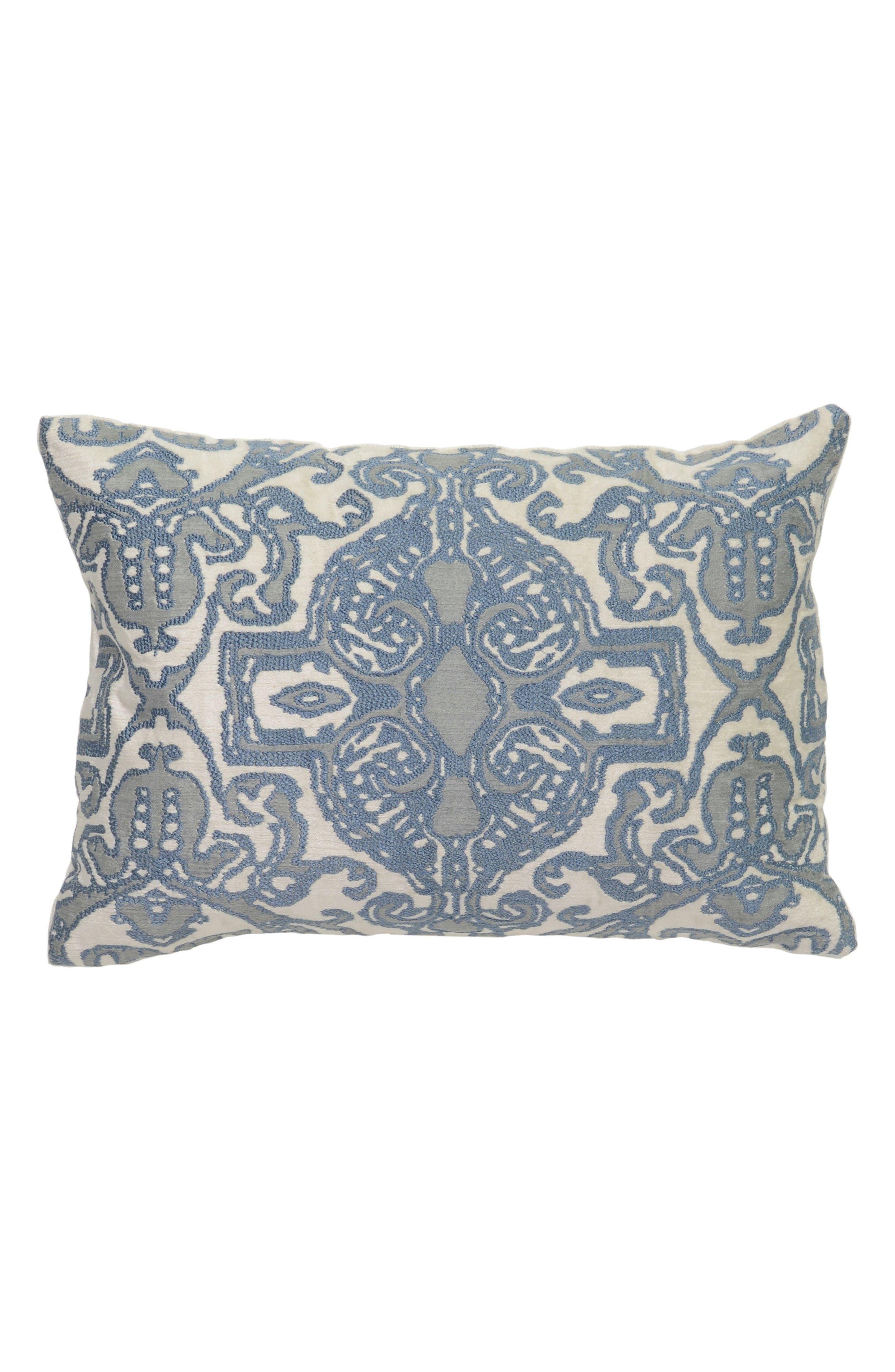 Lois Harbour Pillow,                             Main thumbnail 1, color,                             Blue/ Brown