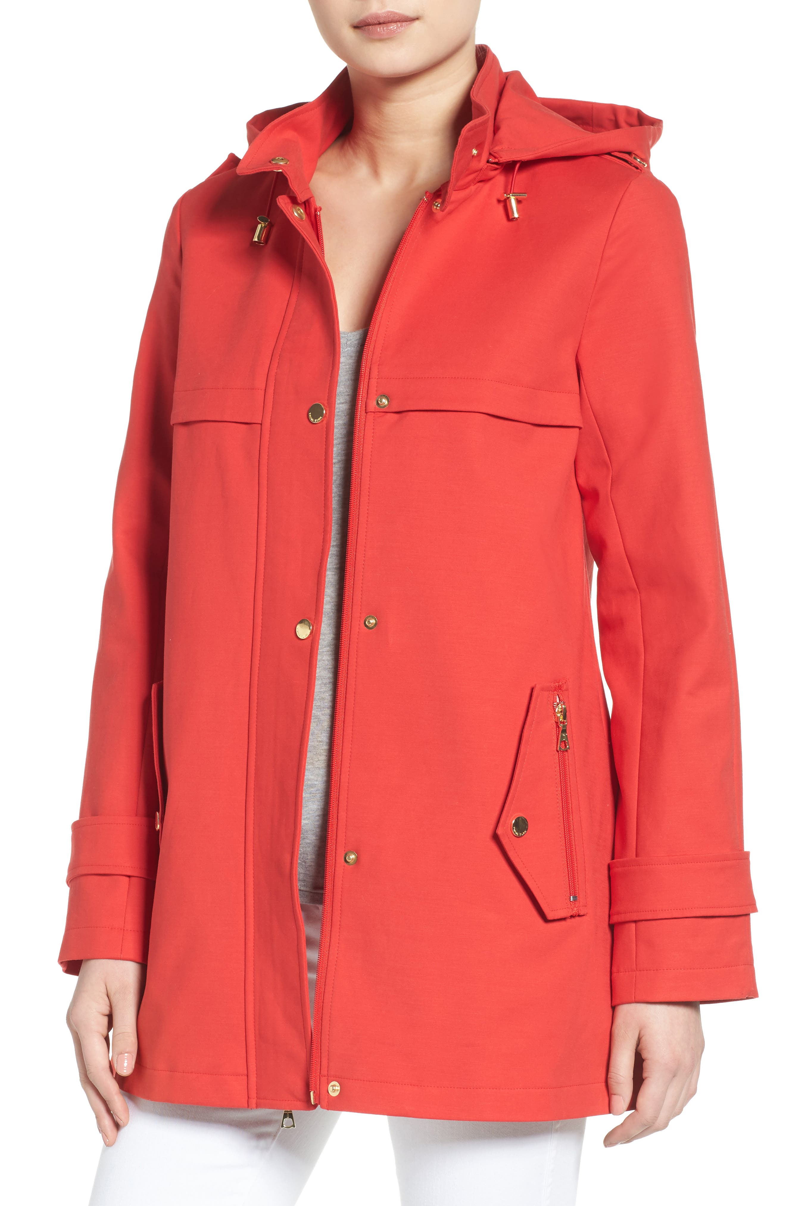 Alternate Image 1 Selected - trina Trina Turk A-Line Rain Jacket