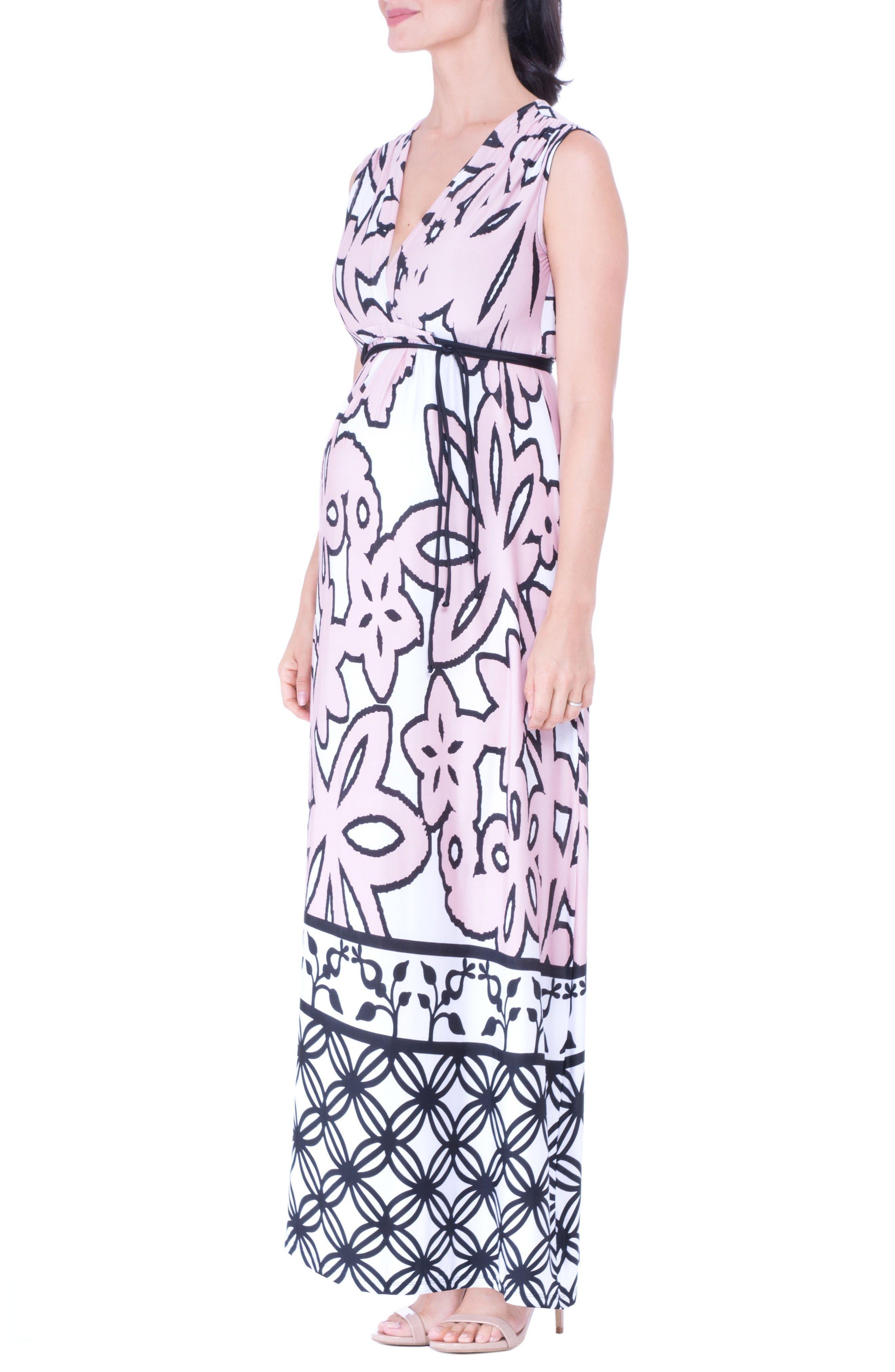 Alternate Image 3  - Olian Print Maternity Maxi Dress