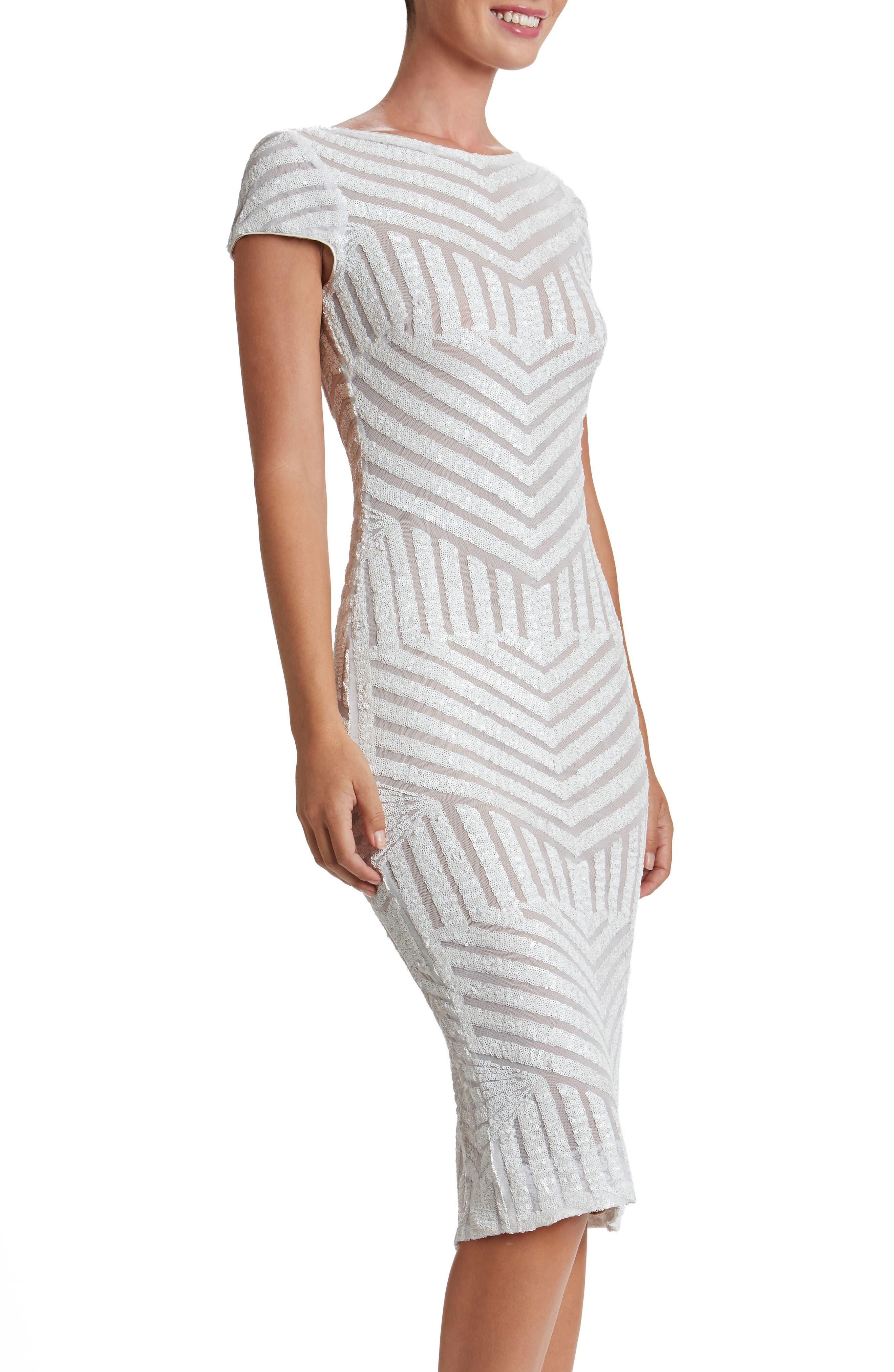 Katerina Body-Con Dress,                         Main,                         color, White/ Nude