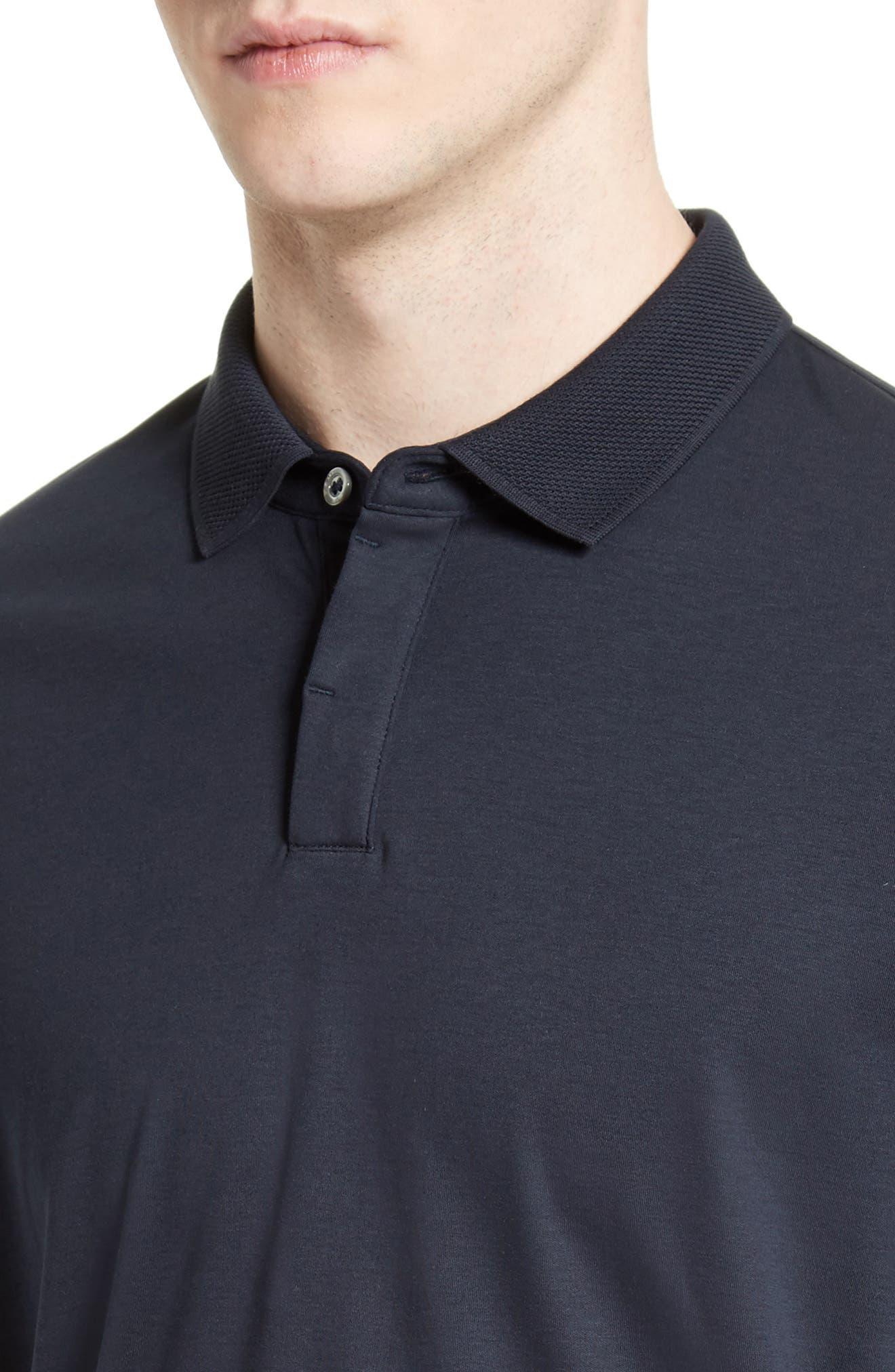 Alternate Image 4  - Armani Collezioni Cotton Interlock Polo