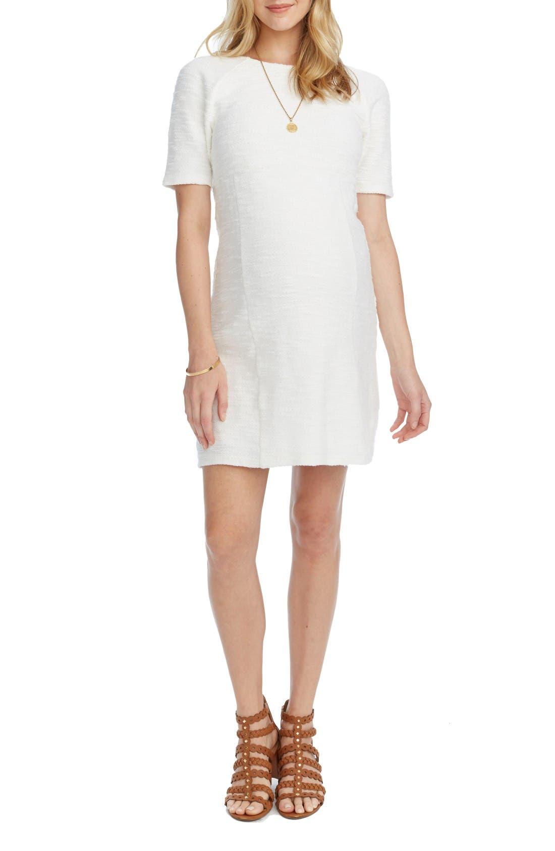 Alana Maternity Dress,                         Main,                         color, Cream