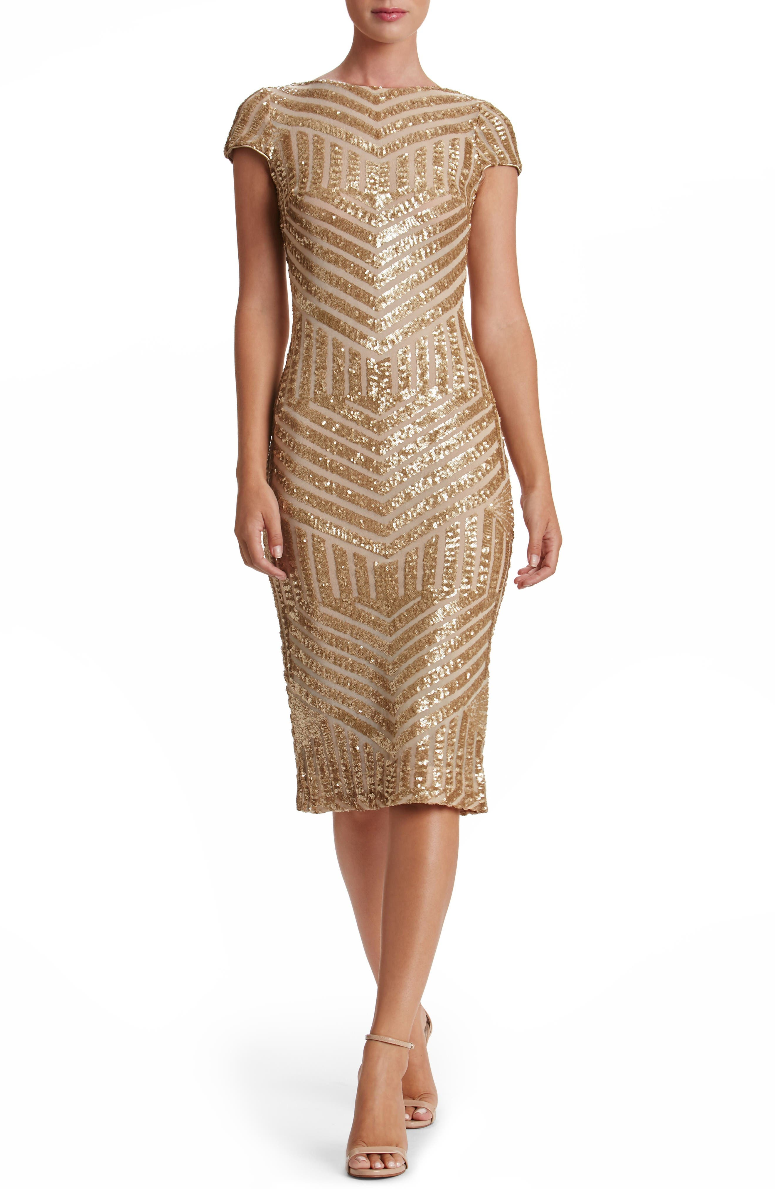Alternate Image 2  - Dress the Population Katerina Body-Con Dress