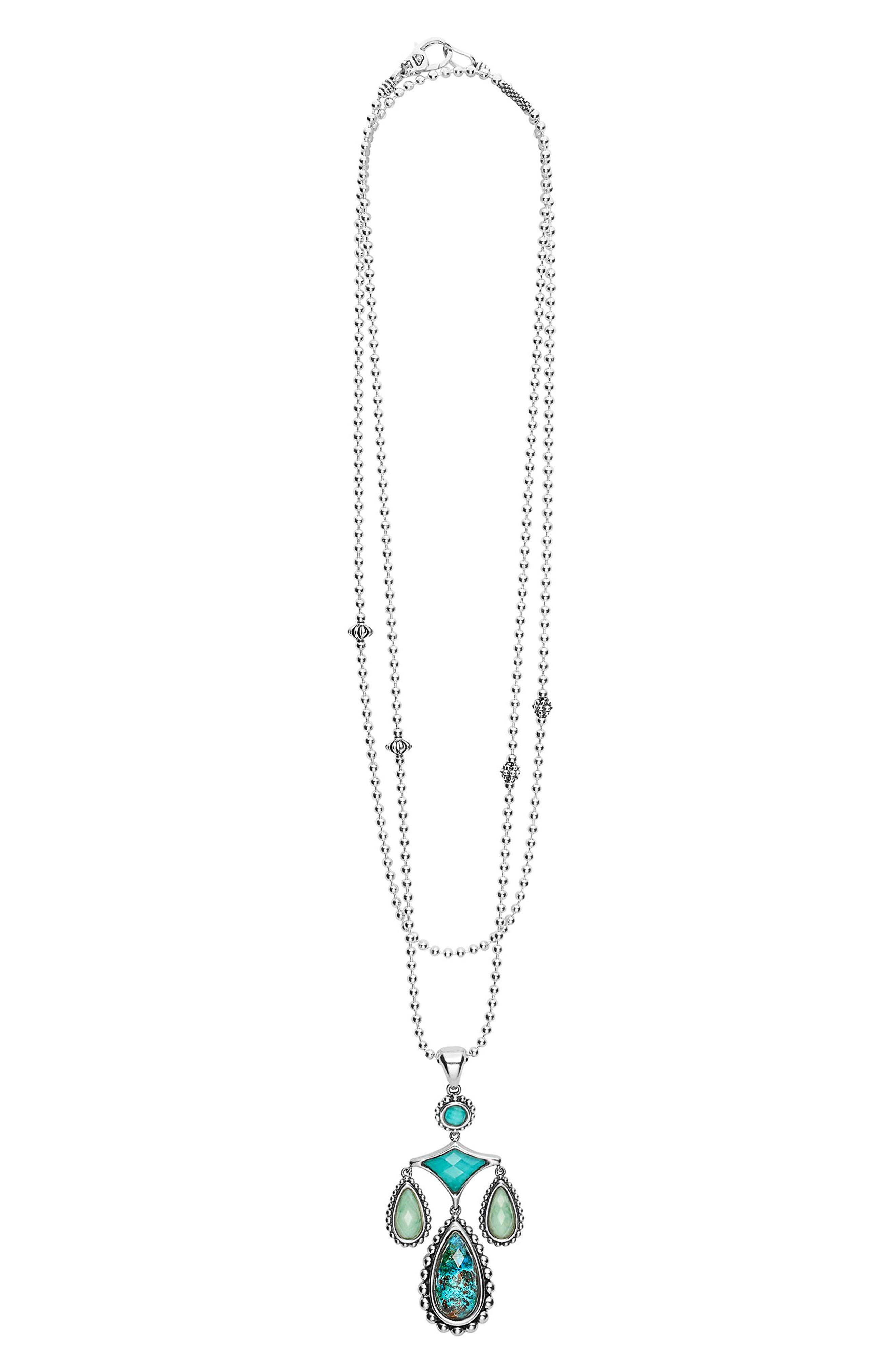 Maya Drop Pendant Necklace,                             Main thumbnail 1, color,                             Silver