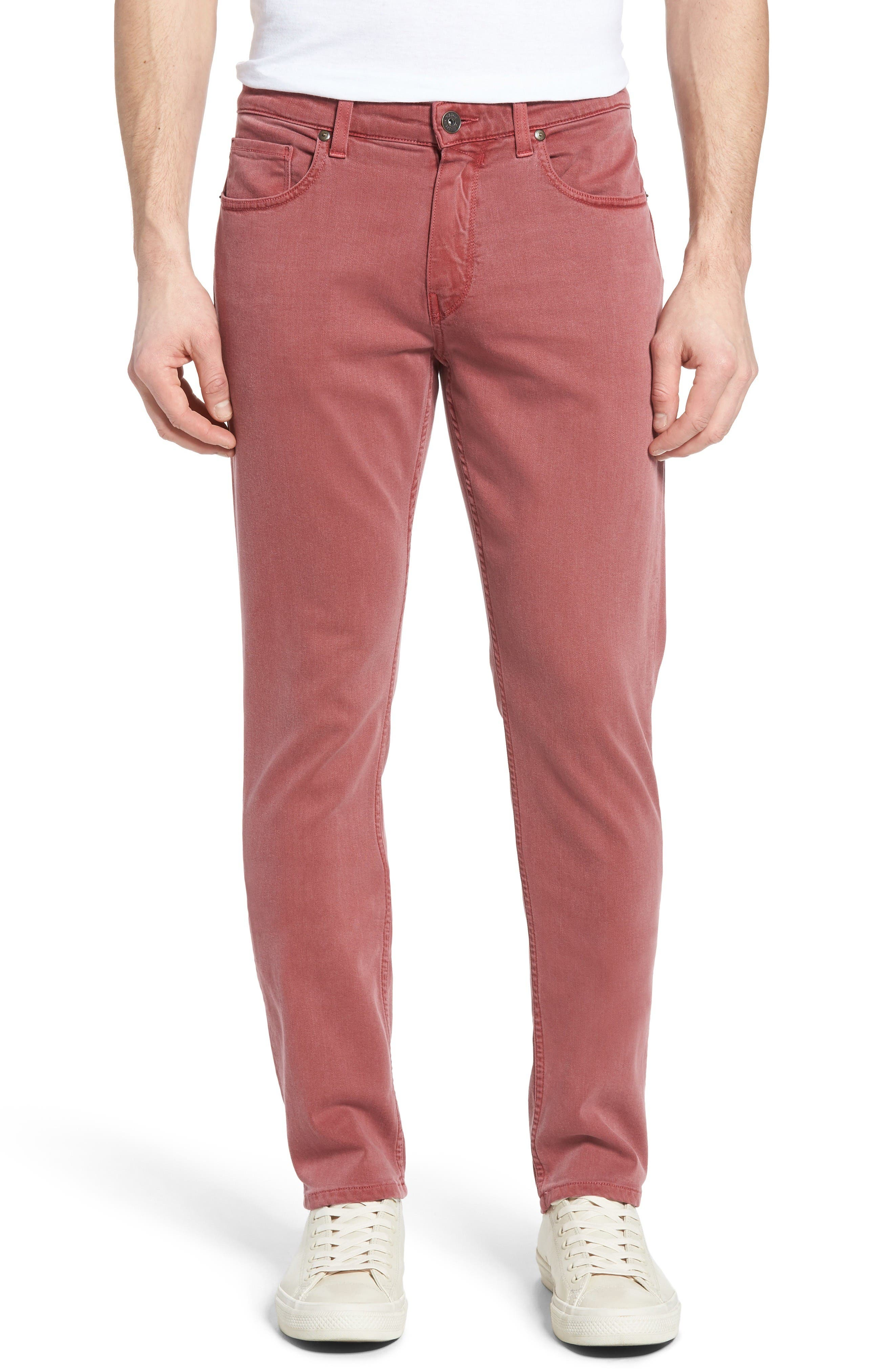 PAIGE Transcend - Federal Slim Straight Leg Jeans (Radish)