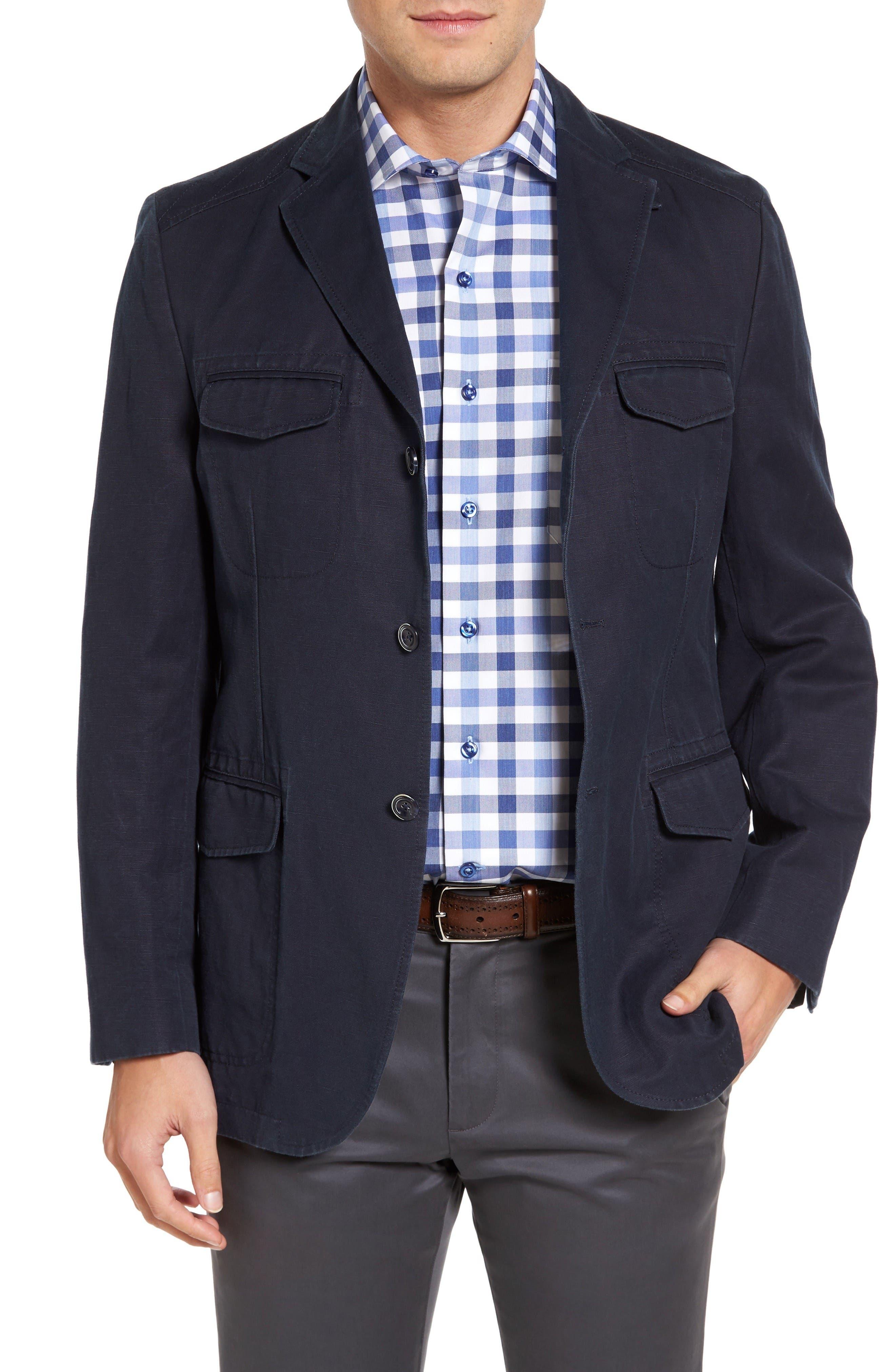 Kroon Hozier Classic Fit Cotton & Linen Blazer