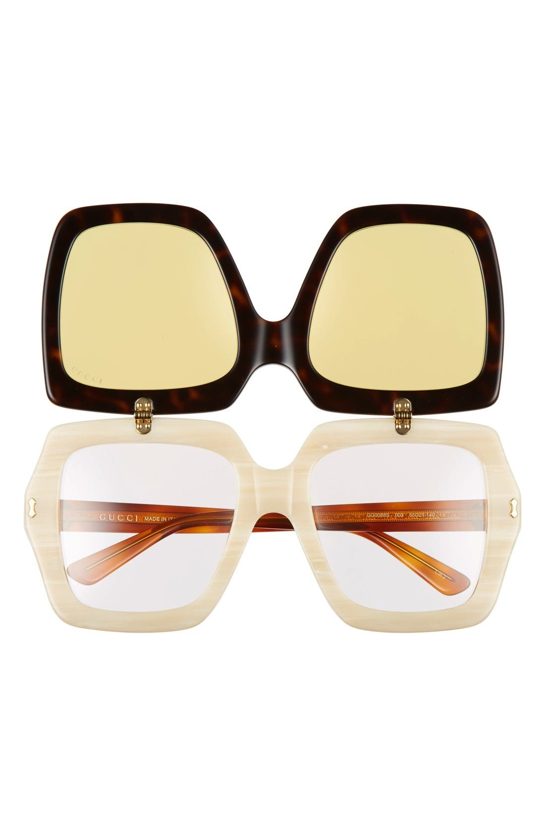 Alternate Image 2  - Gucci 55mm Flip-Up Sunglasses