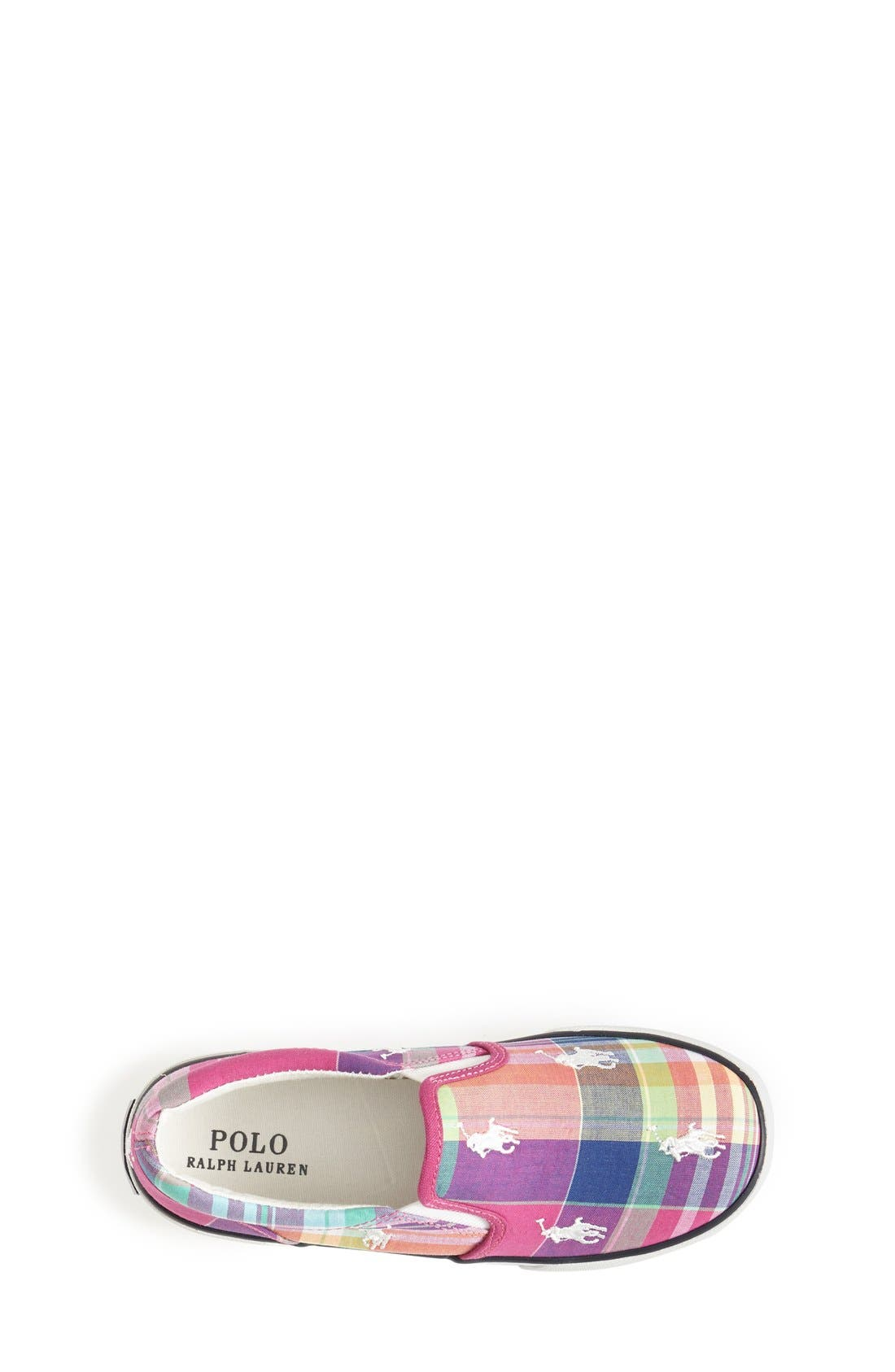 Alternate Image 3  - Ralph Lauren Plaid Sneaker (Baby, Walker, Toddler & Little Kid)
