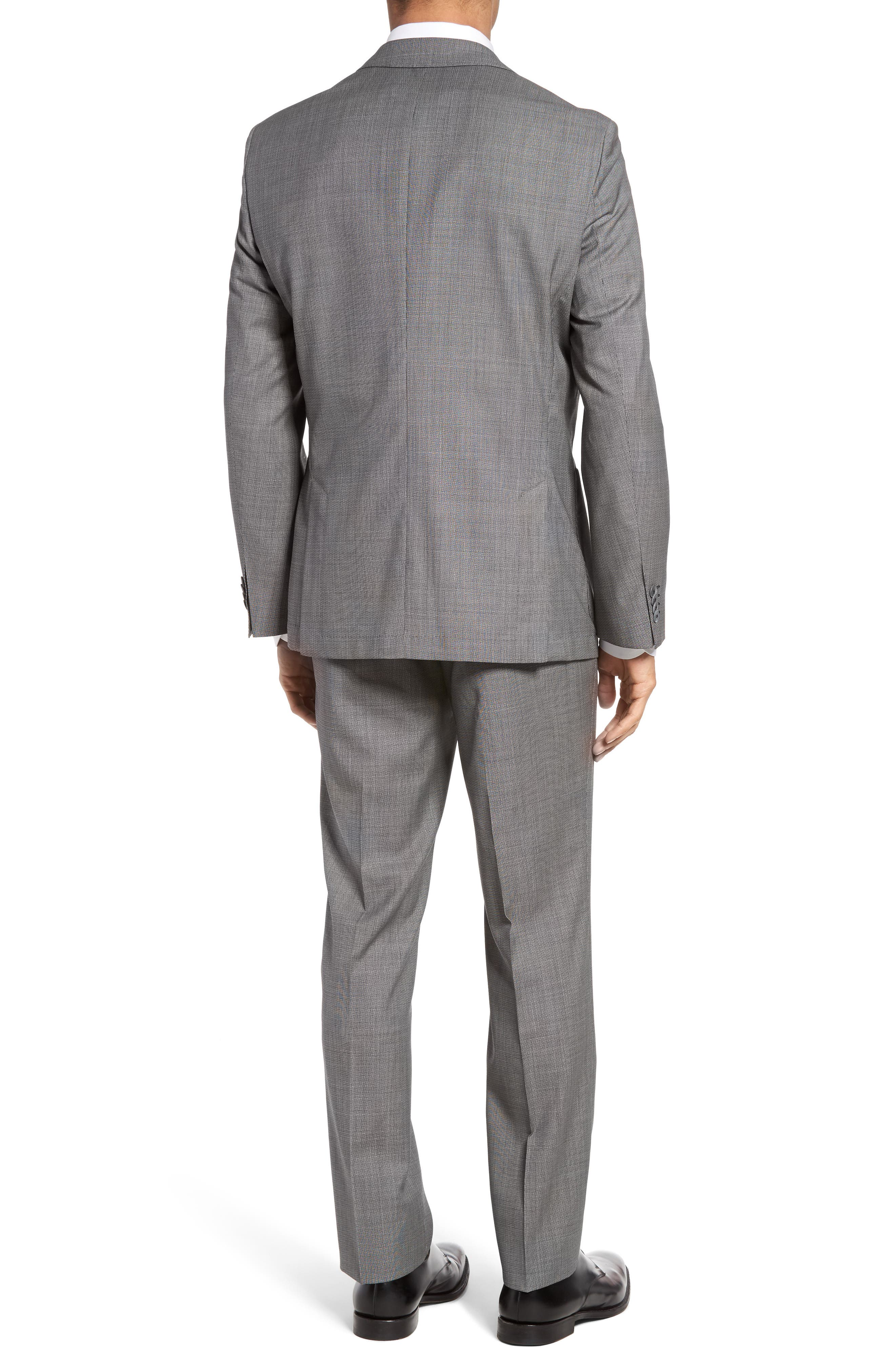 Alternate Image 2  - BOSS Janon/Lenon Trim Fit Solid Wool Suit