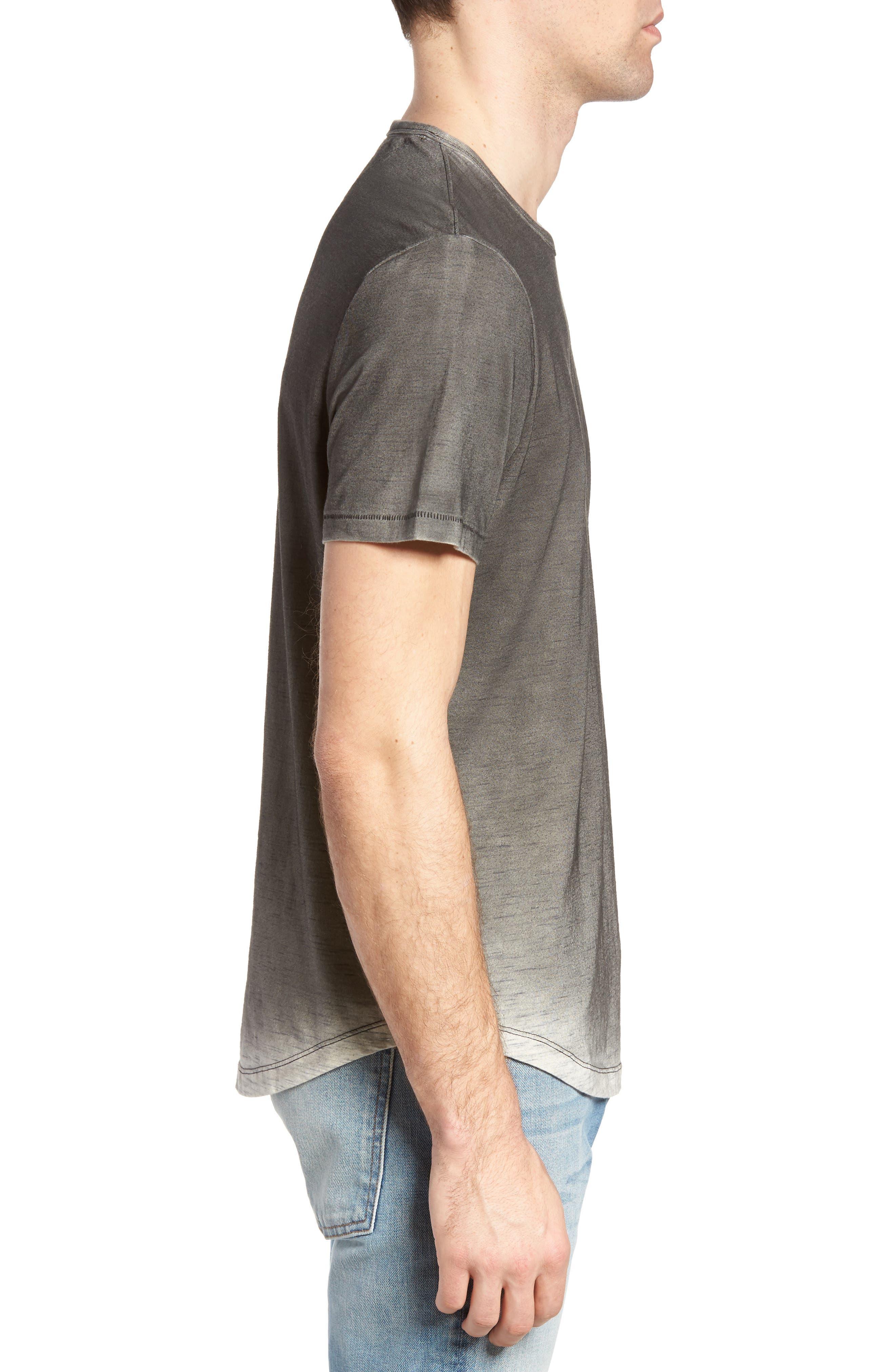 Kendrick Spray Heather Jersey T-Shirt,                             Alternate thumbnail 3, color,                             Coal