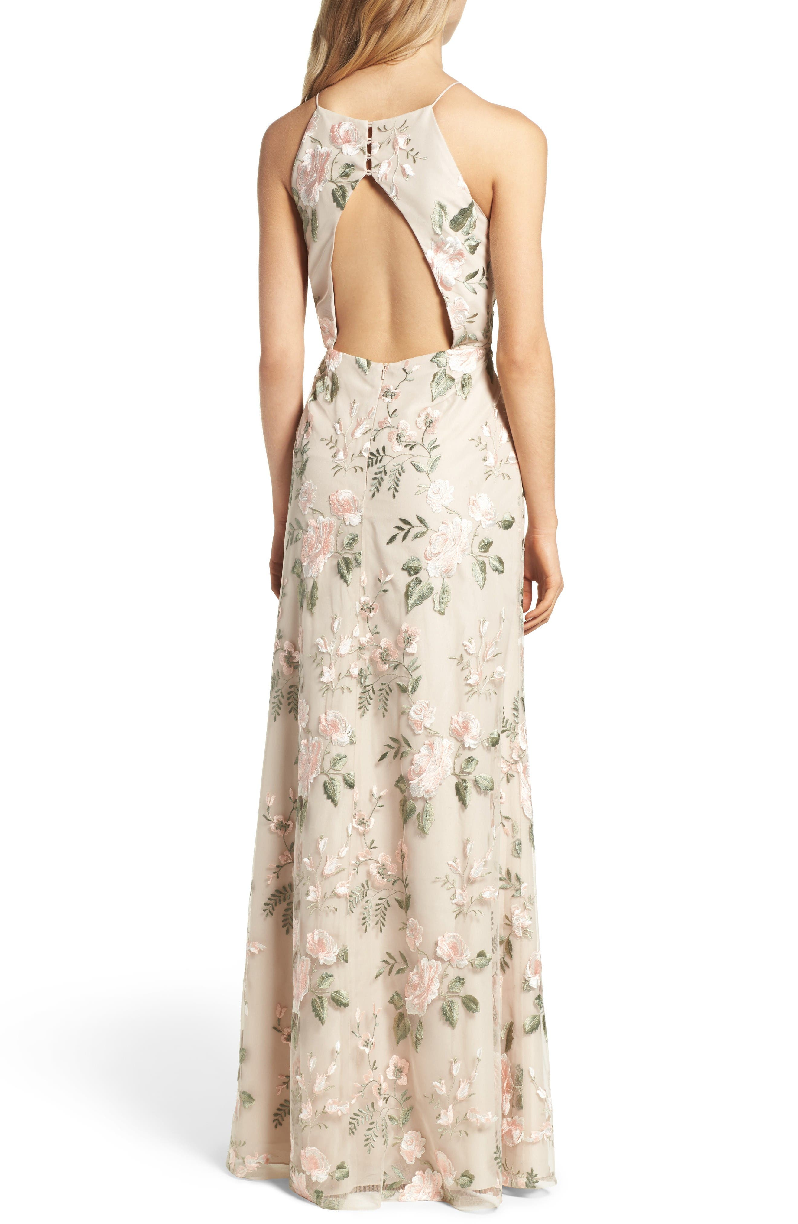 Alternate Image 2  - Jenny Yoo Claire Floral Embroidered Gown