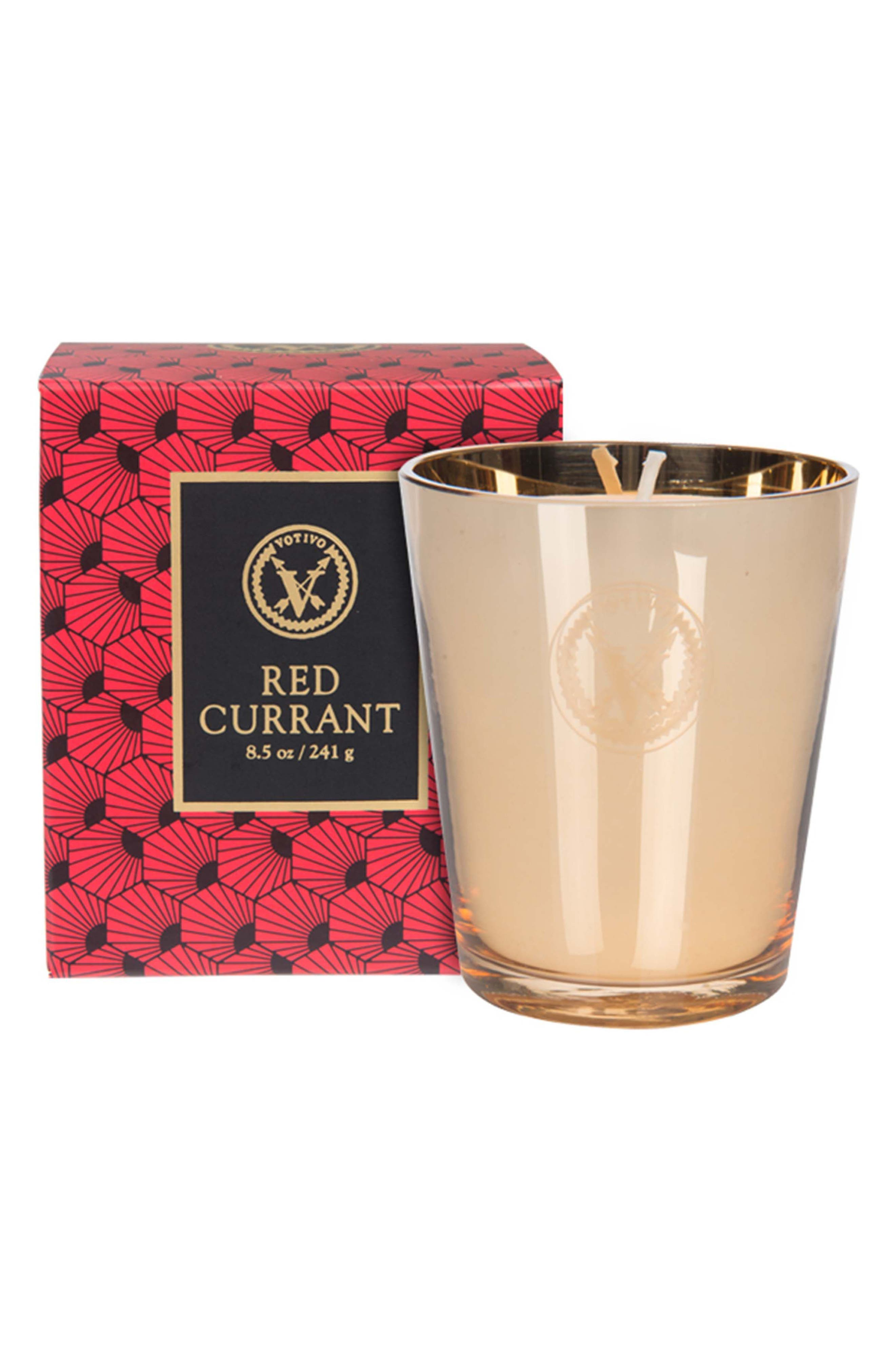 Red Currant Collection - Metallic Elegance Candle,                         Main,                         color, Red Currant