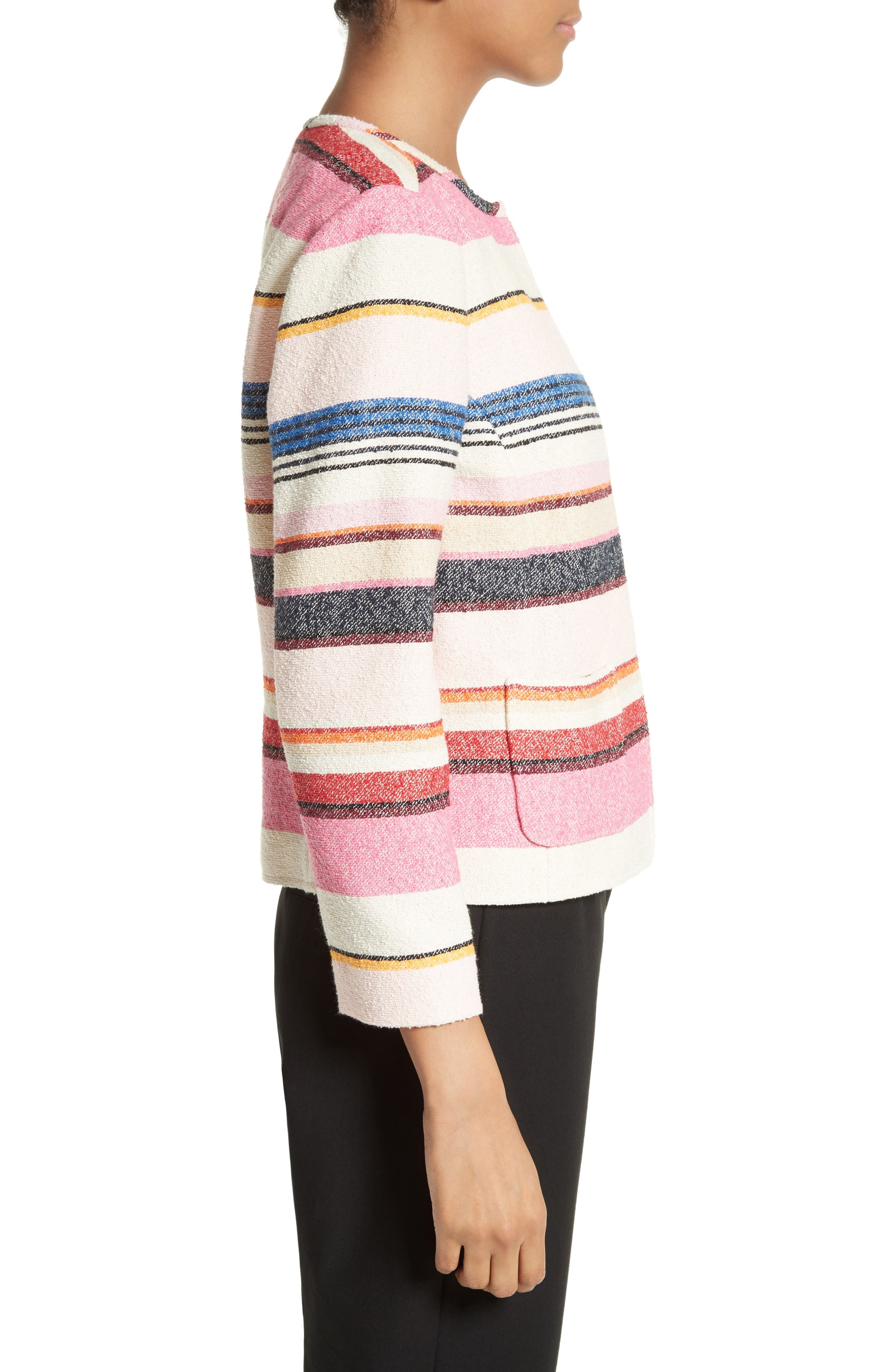 Alternate Image 3  - kate spade new york berber stripe collarless jacket