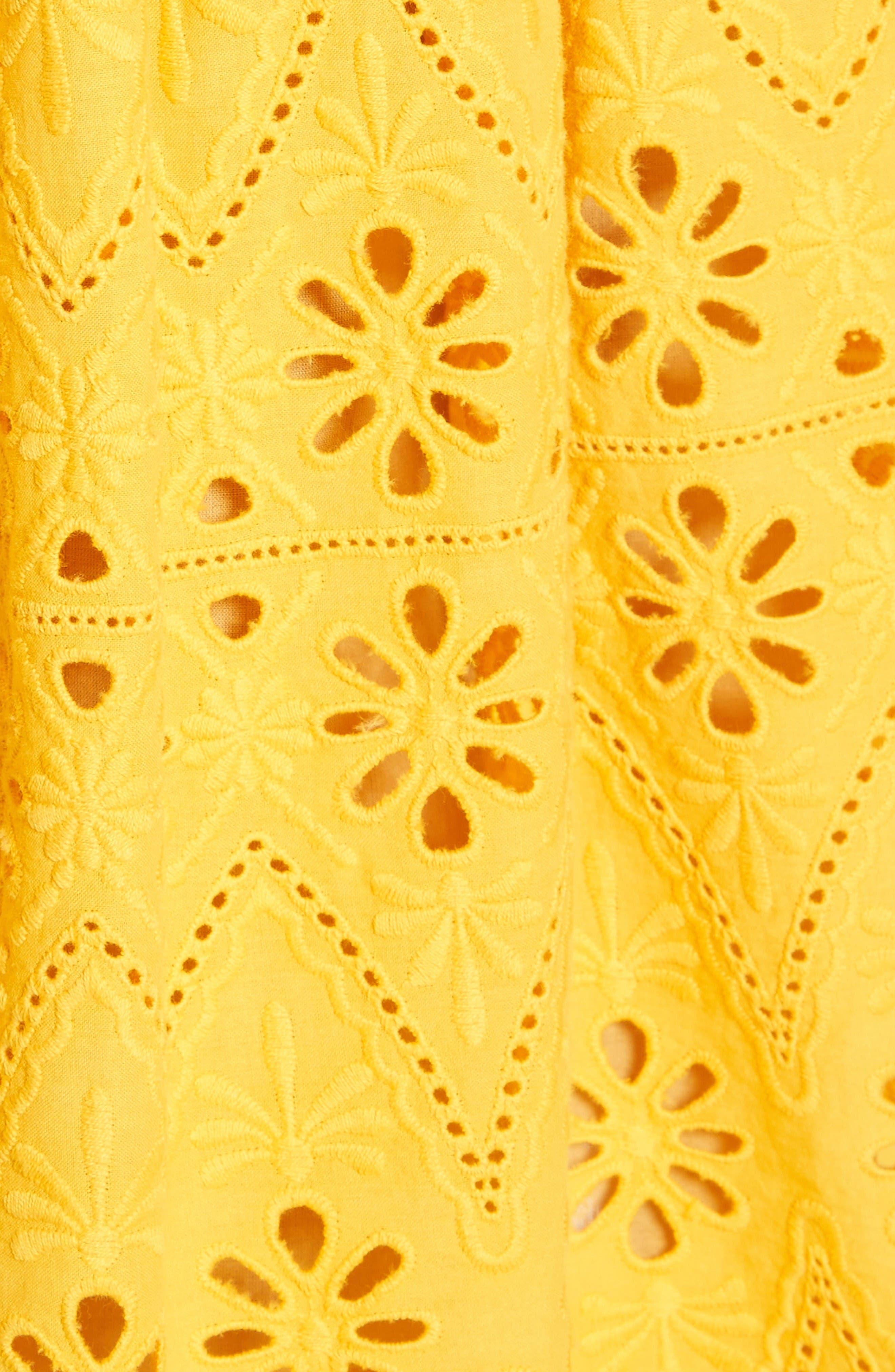 Alternate Image 5  - kate spade new york eyelet embroidered skirt