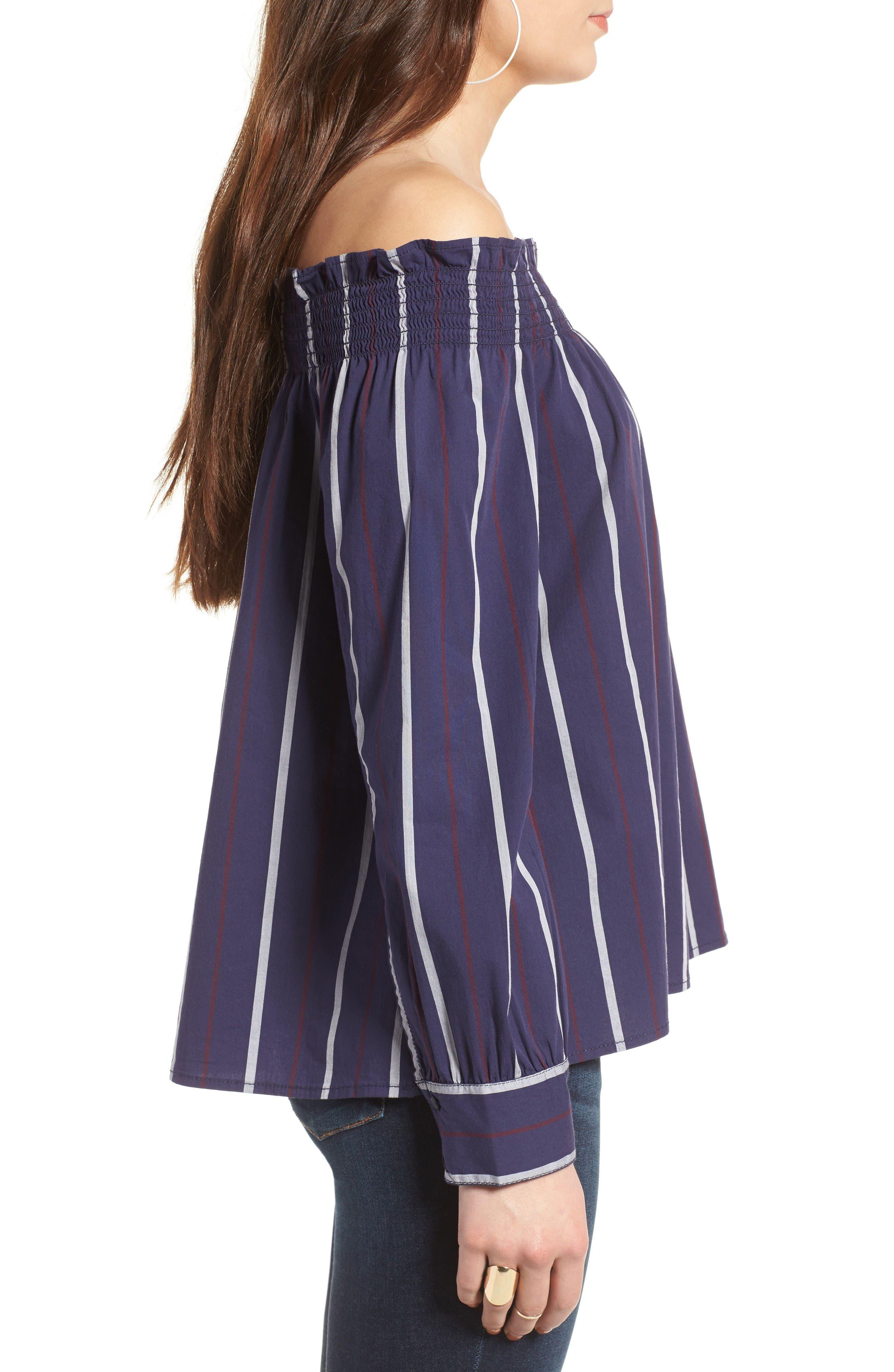 Alternate Image 3  - BP. Stripe Off the Shoulder Top