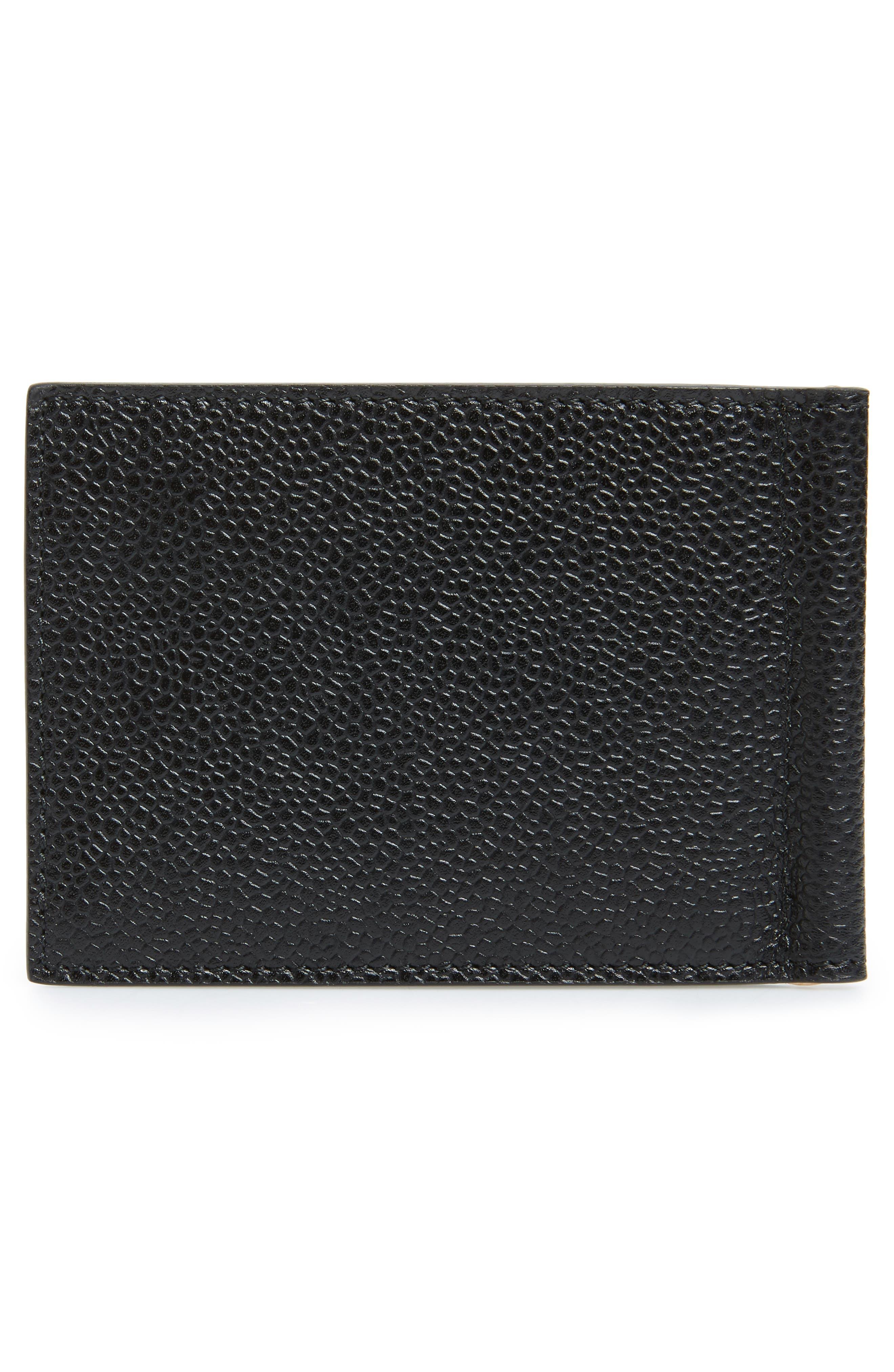 Alternate Image 3  - Thom Browne Diagonal Stripe Leather Card Holder