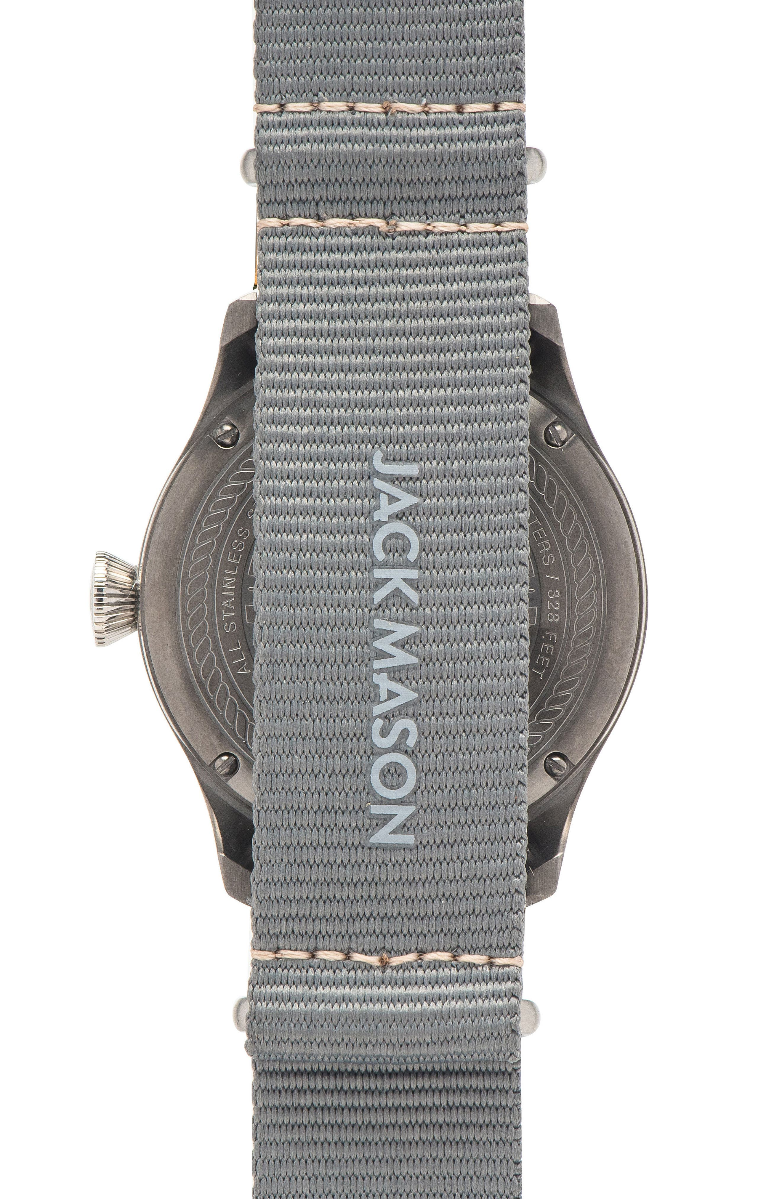 Alternate Image 2  - Jack Mason Aviation NATO Strap Watch, 42mm