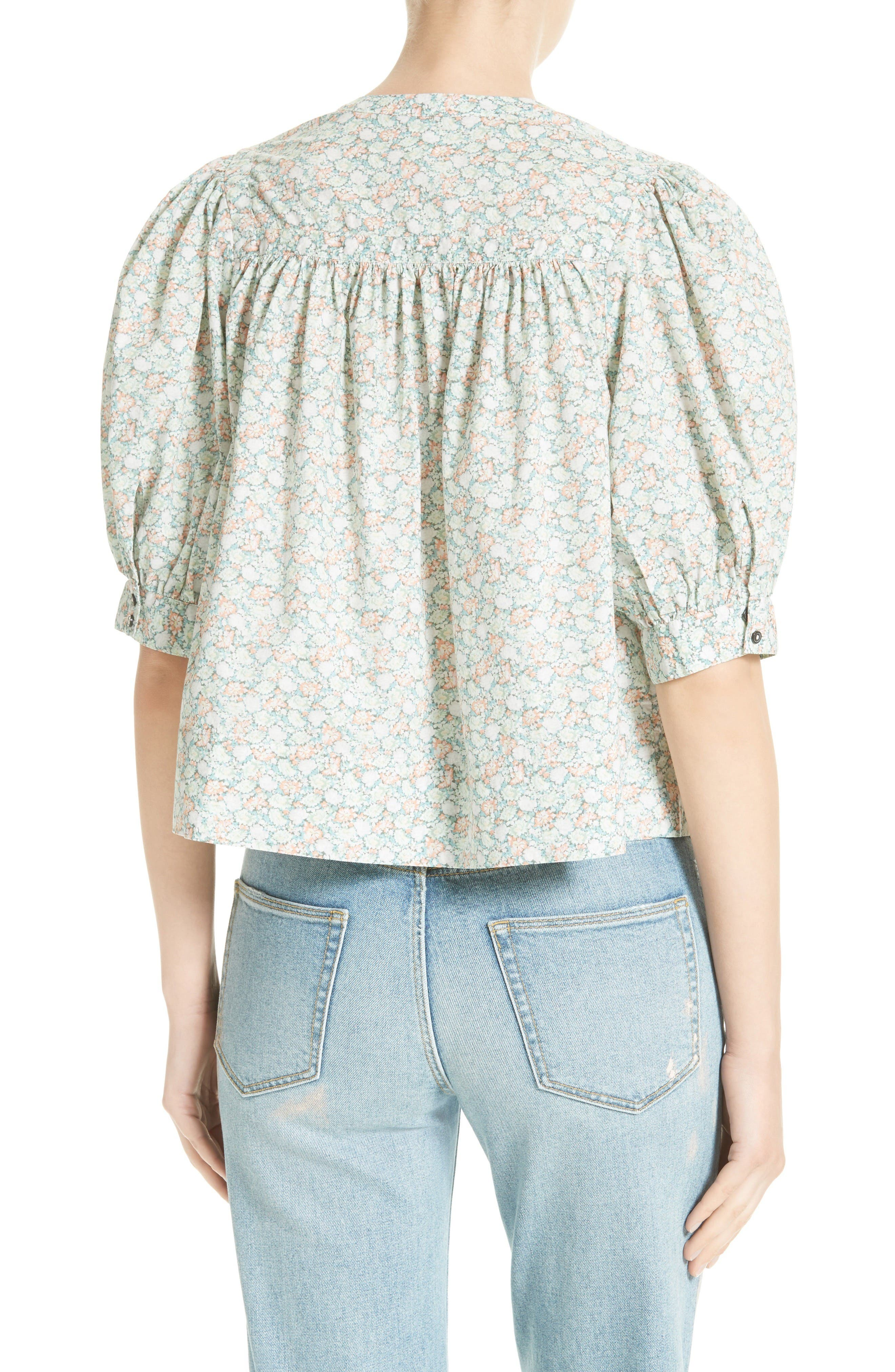 Alternate Image 2  - La Vie Rebecca Taylor Adelie Crop Blouse