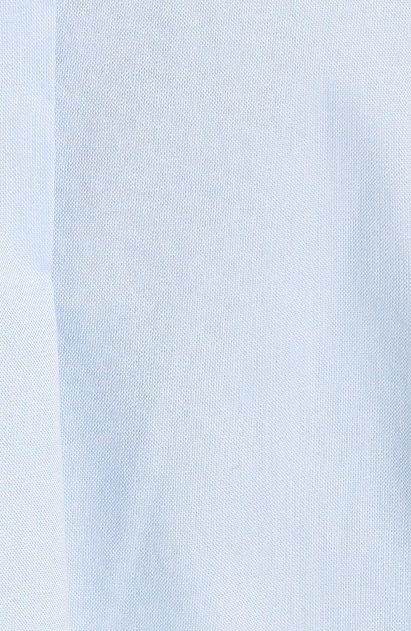 Ruggle Oxford Cotton Shirt,                             Alternate thumbnail 6, color,                             Light Blue