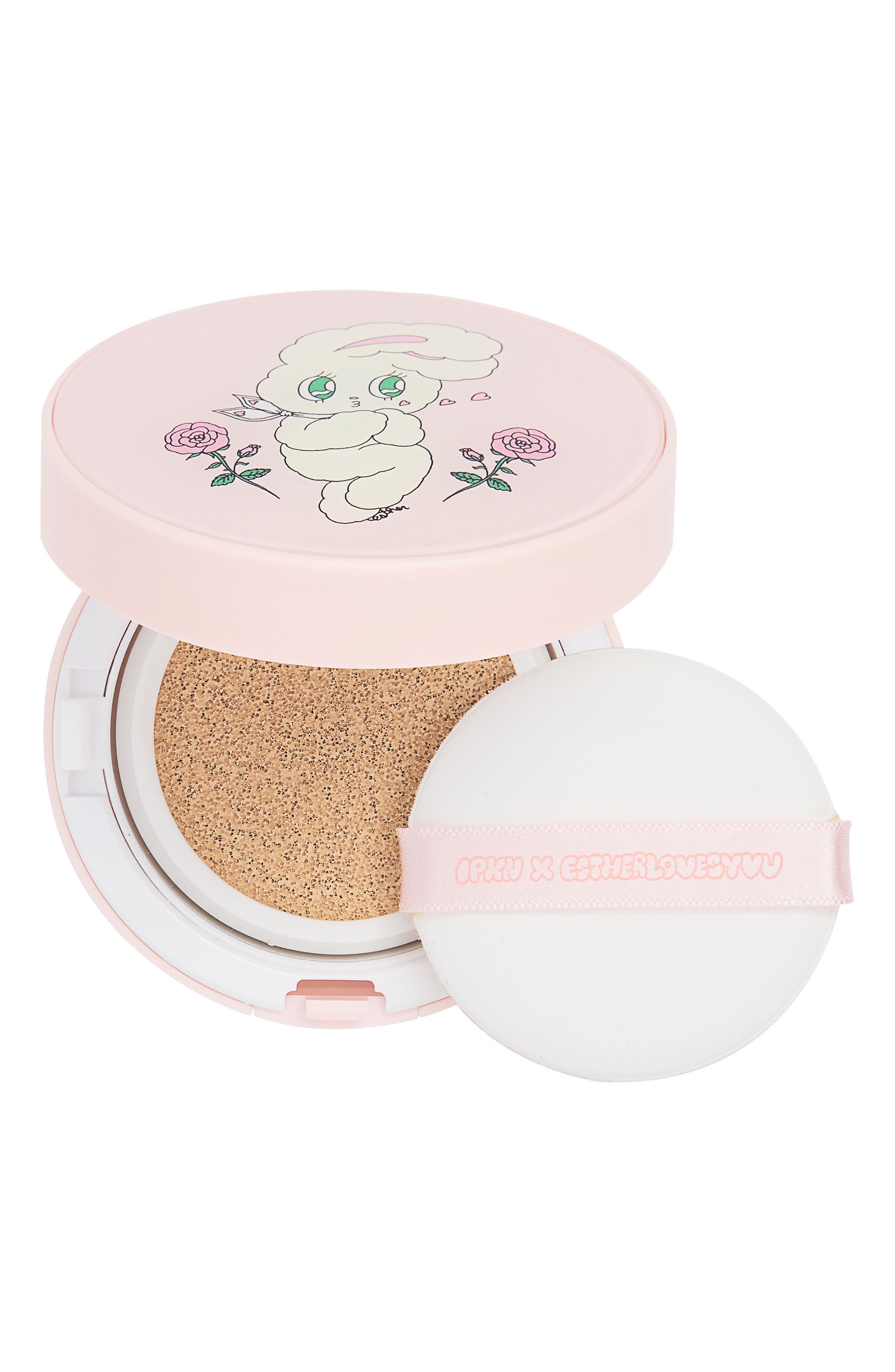 Twinkle Multi-Tasking Foundation Cushion SPF 50,                             Main thumbnail 1, color,                             Nude Beige