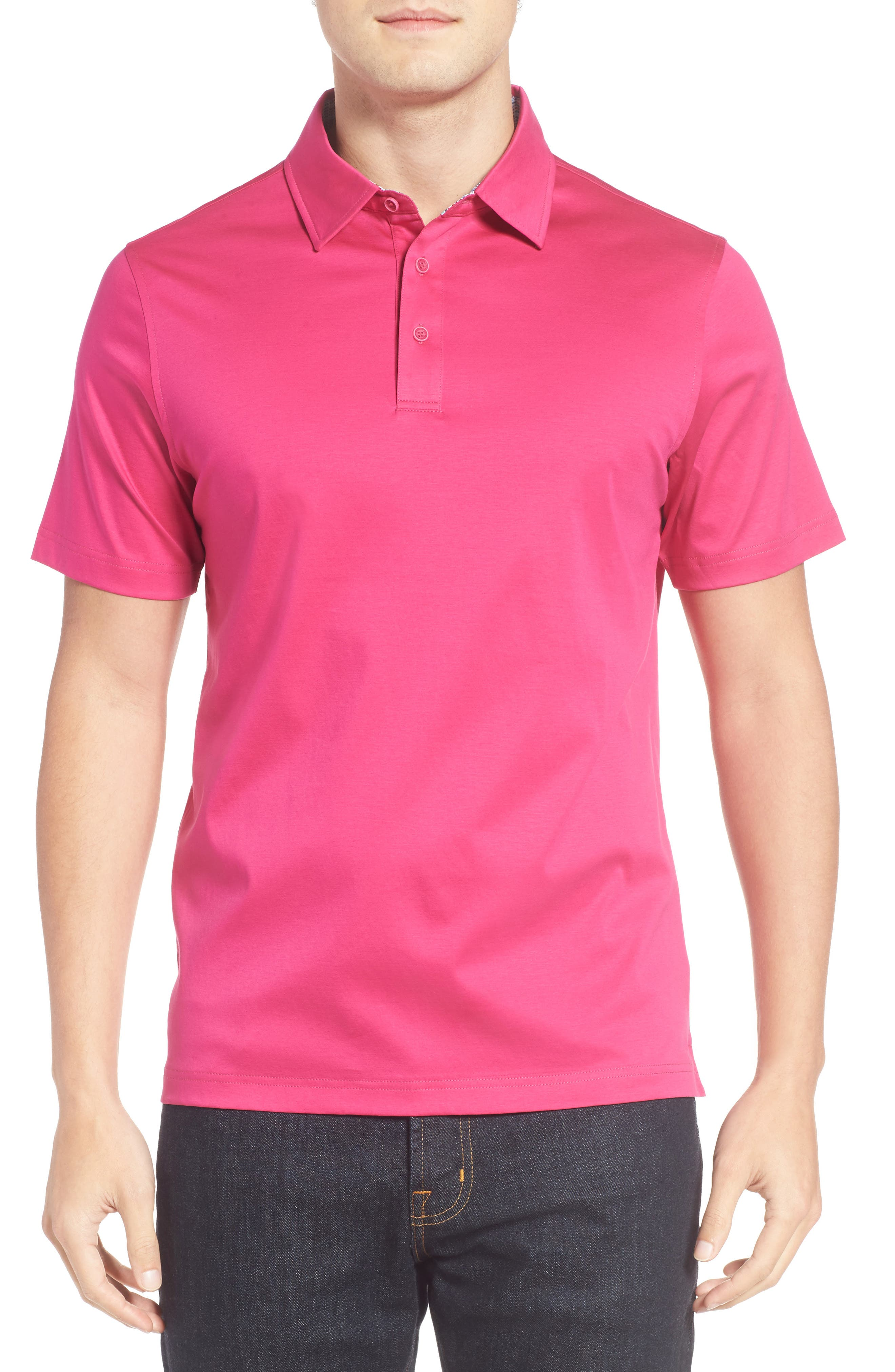 Main Image - Bugatchi Jersey Polo