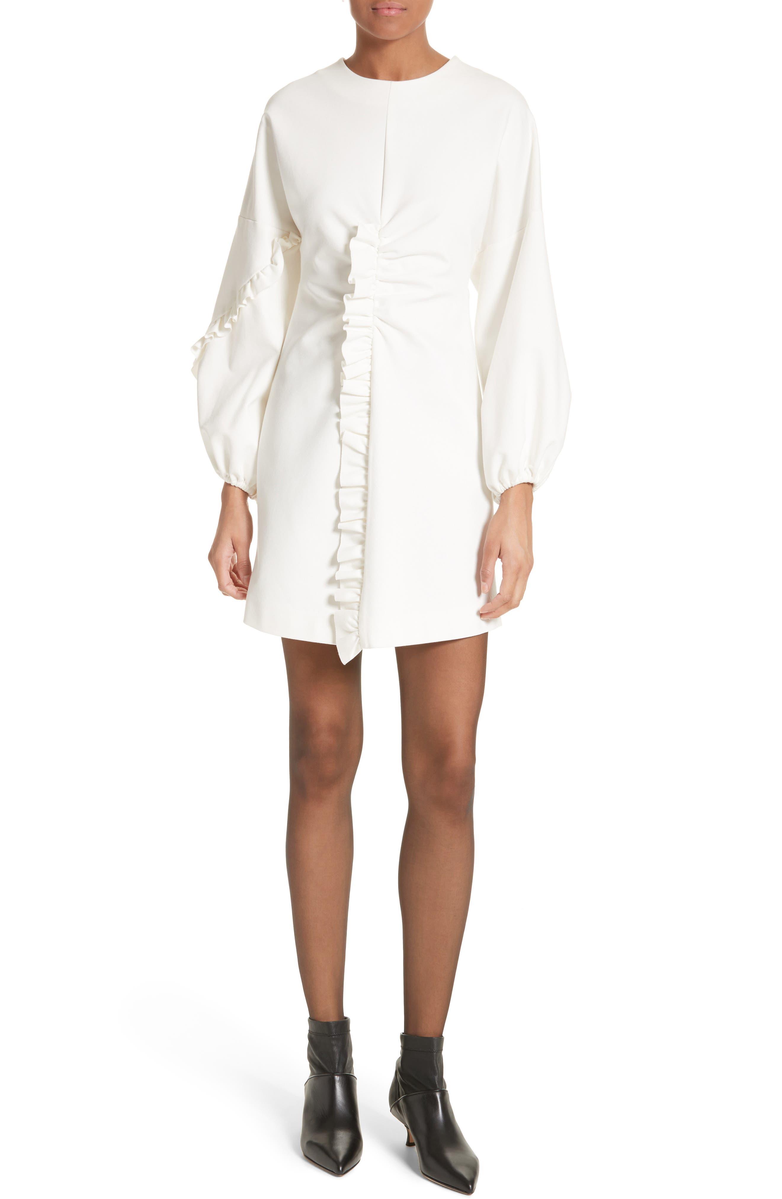 Bond Stretch Knit Minidress,                         Main,                         color, White